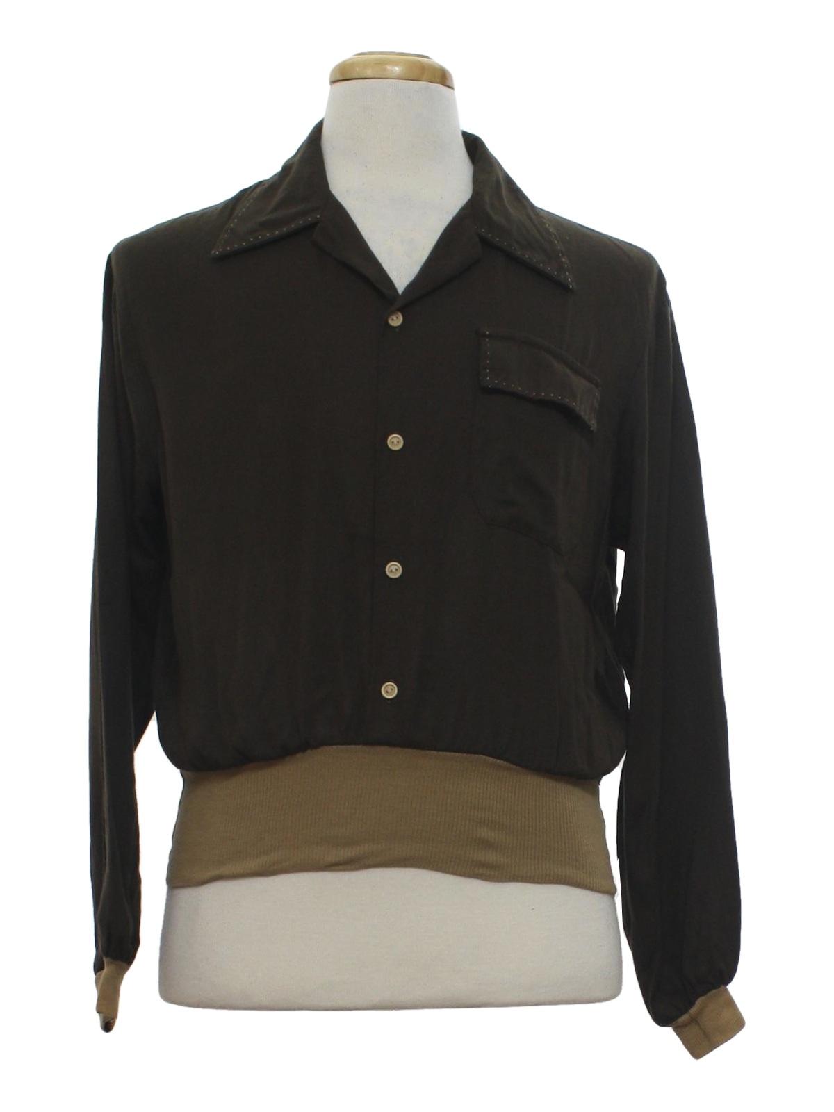 40s gabardine shirt kennington 40s style made in 60s for Sports shirts near me