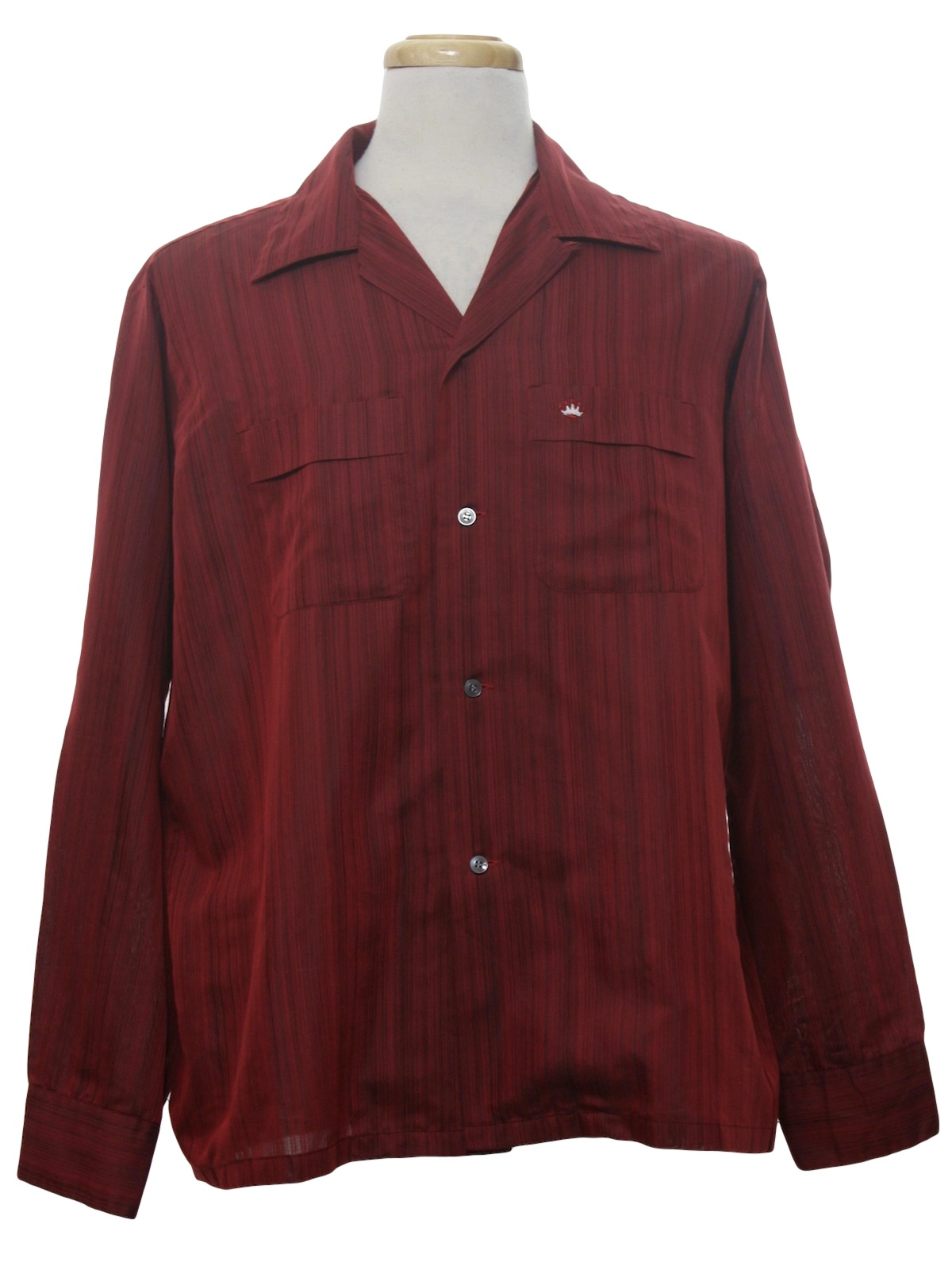 Sixties vintage shirt early 60s needles of california for Button up collared sport shirts