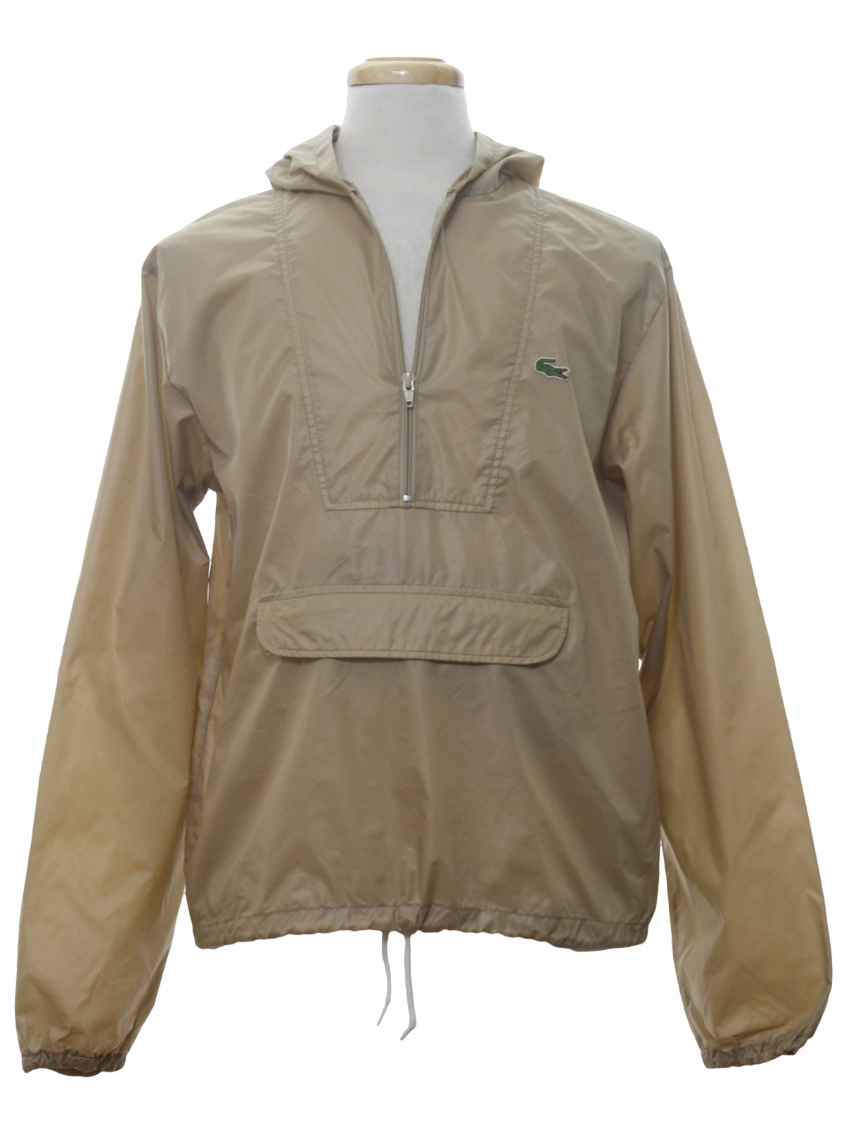 80s Retro Jacket: 80s -Lacoste- Mens tan background, longsleeve ...