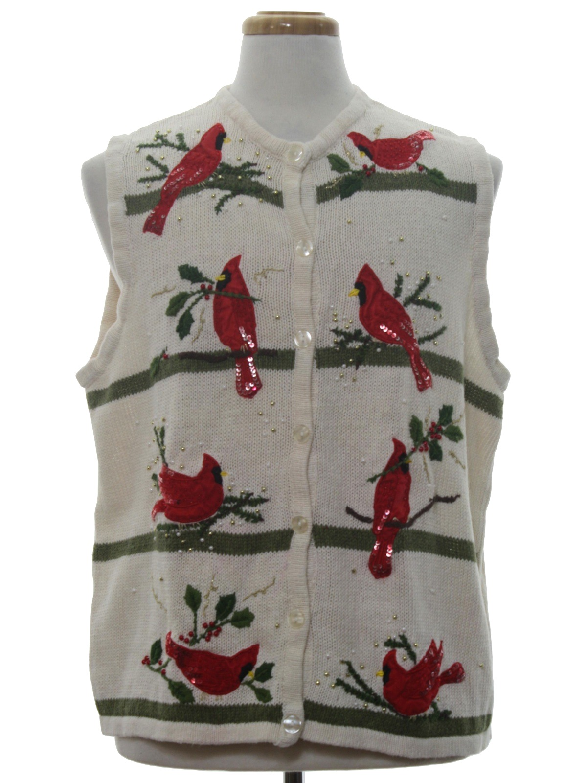 194e3bed1512 Ugly Christmas Sweater Vest  -White Stag- Unisex cream white ...
