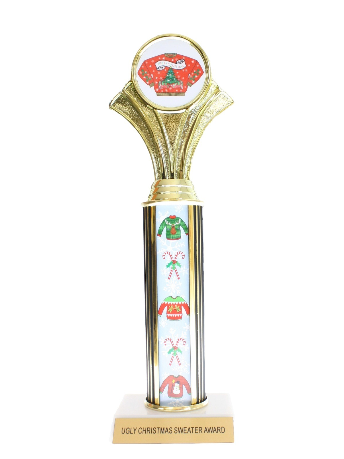 Ugly christmas sweater trophy