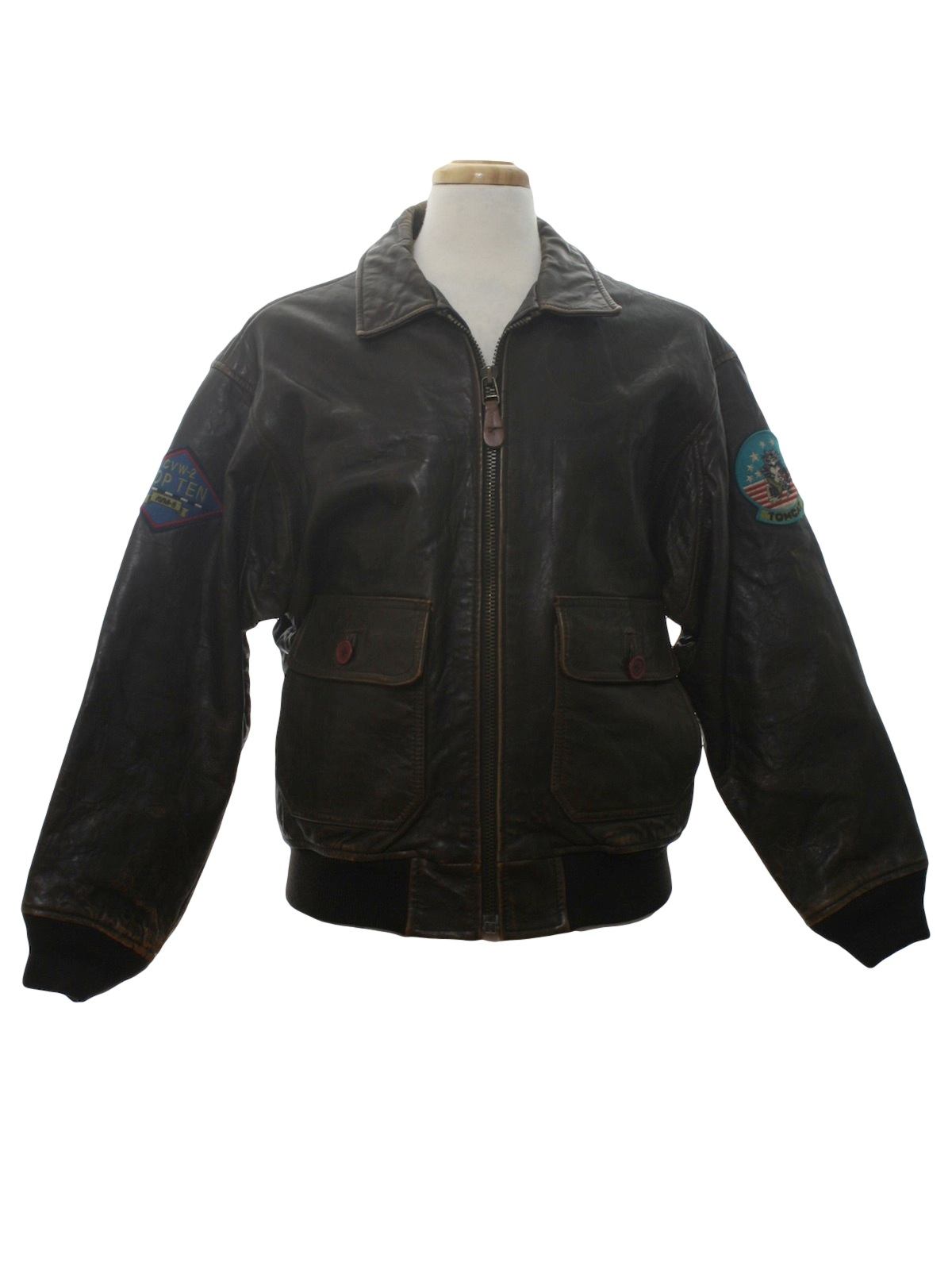 4489ca7775c Avirex Jacket G 80 s Vintage Leather Jacket  80s style made in 90s ...
