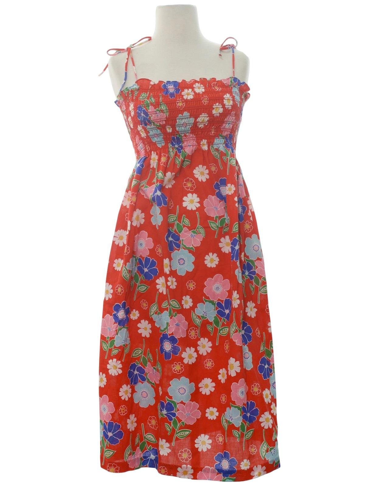 Eighties Sears Dress 80s Sears Womens Red Background