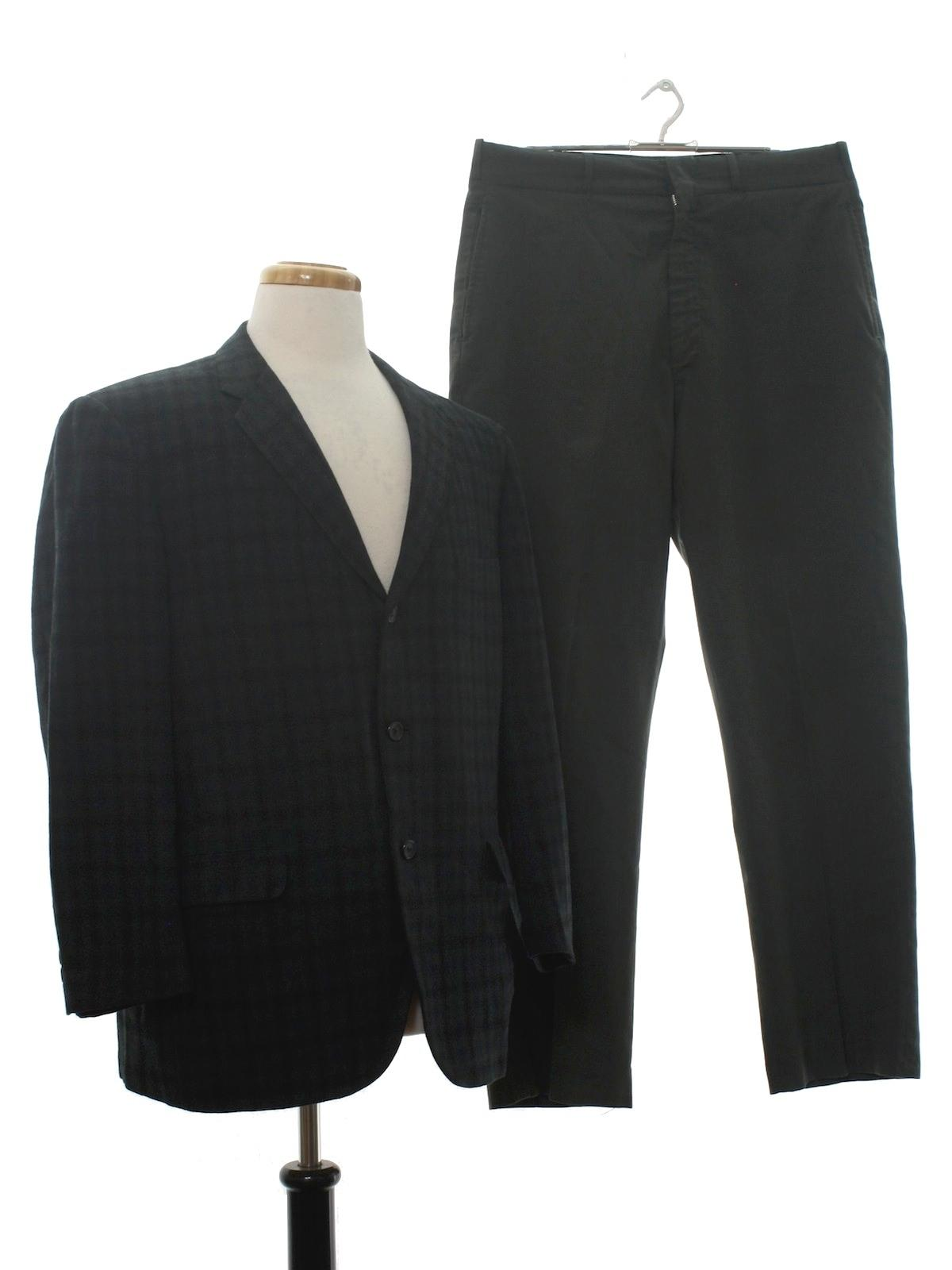 5c6e9a26db34 Retro Fifties Suit: Late 50s -Broadmoor- Mens two piece combo mod ...