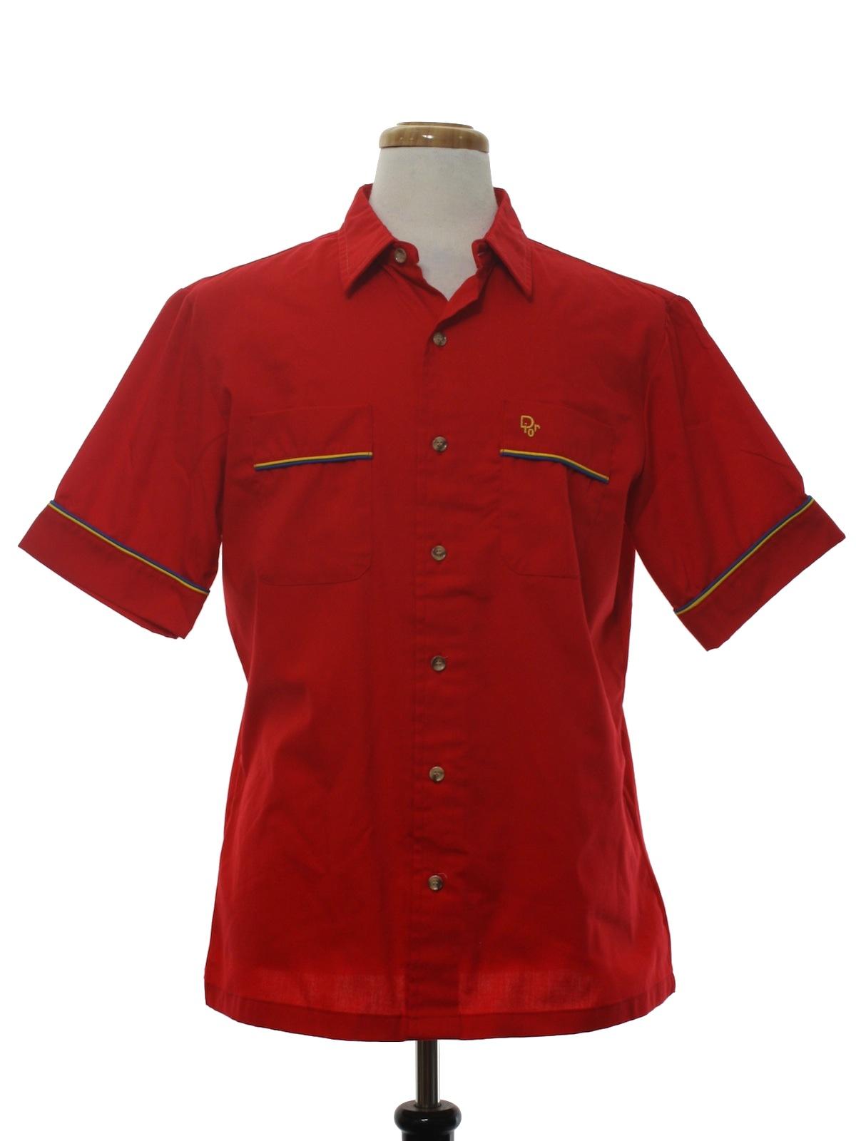 Retro 1980s shirt 80s christian dior mens red for Christian dior button up shirt