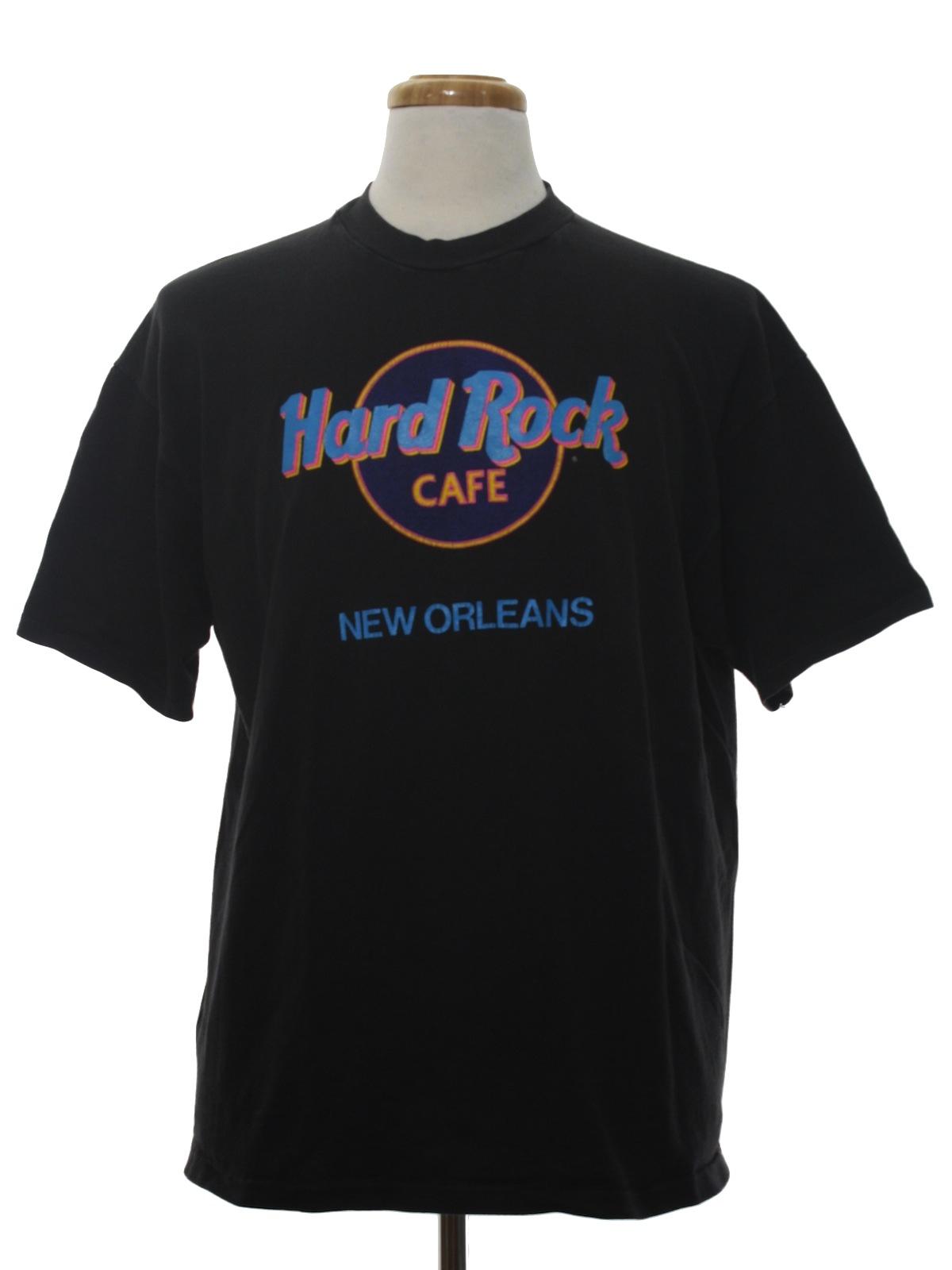 Hard rock 80 39 s vintage t shirt 80s hard rock unisex for T shirt printing new orleans