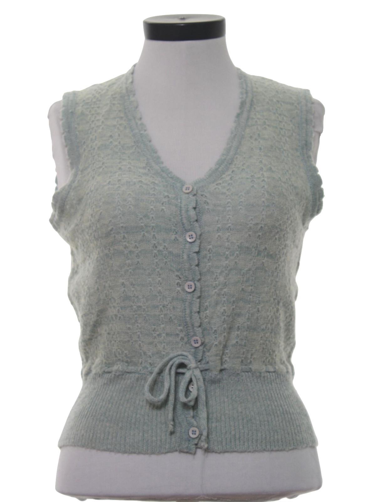 80's Monarch Knits Sweater: 80s -Monarch Knits- Womens hazy aqua ...