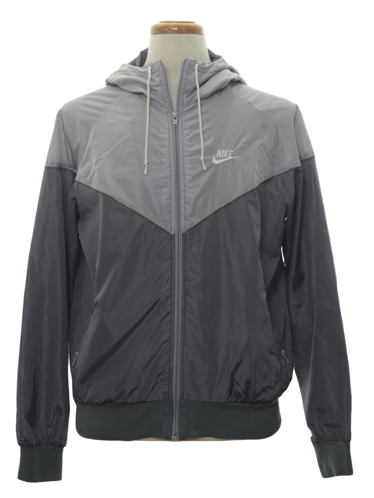 400291db7475 Vintage 1990 s Jacket  Early 90s -Nike- Mens light and dark grey ...