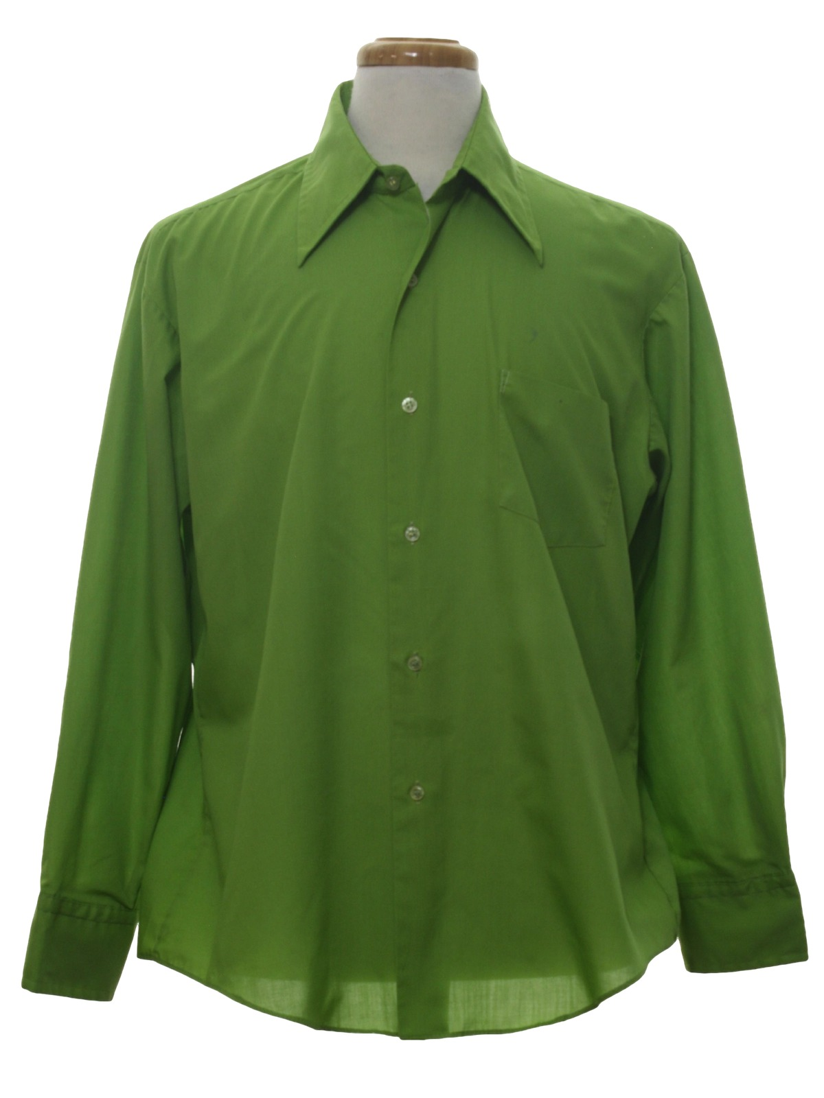 Vintage kmart 1970s shirt 70s kmart mens avocado for Kmart button up shirts
