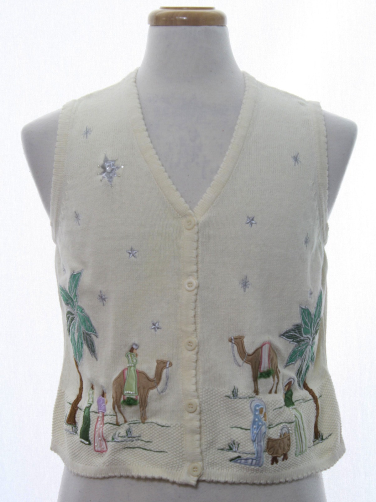 Womens Ugly Christmas Sweater Vest Merry And Bright