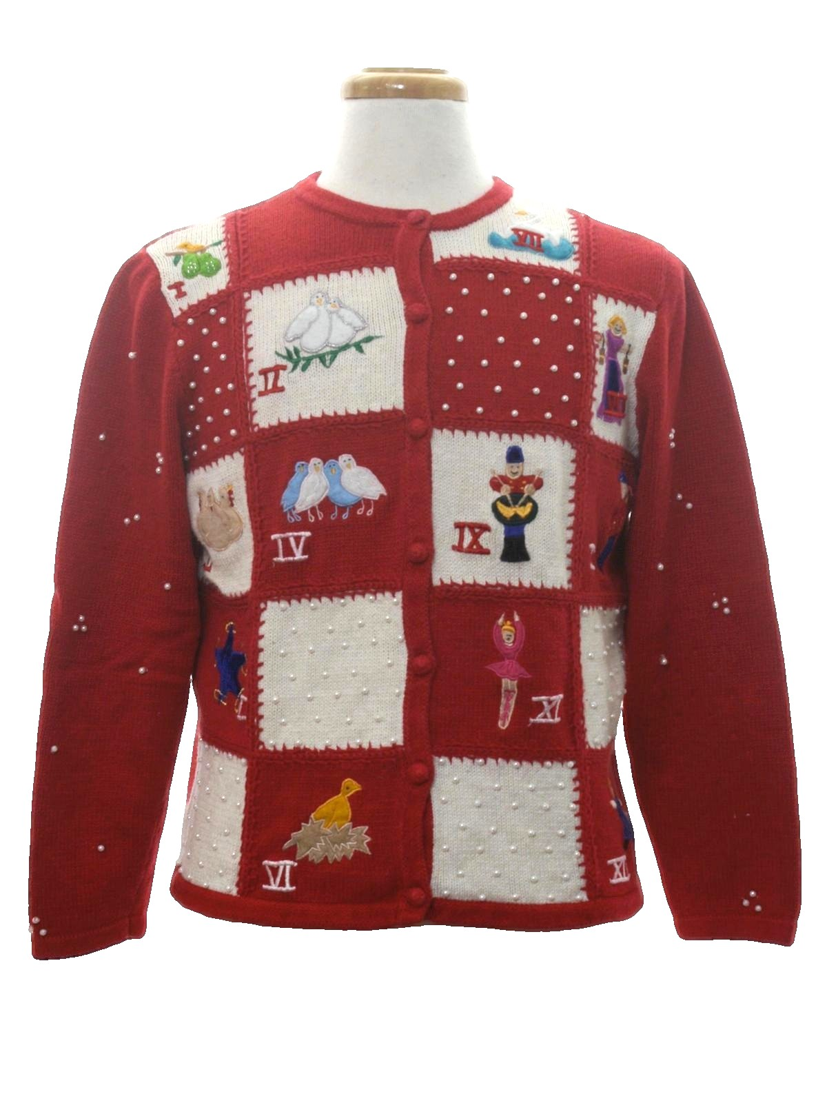 Womens 12 Days Of Christmas Ugly Christmas Sweater Designer