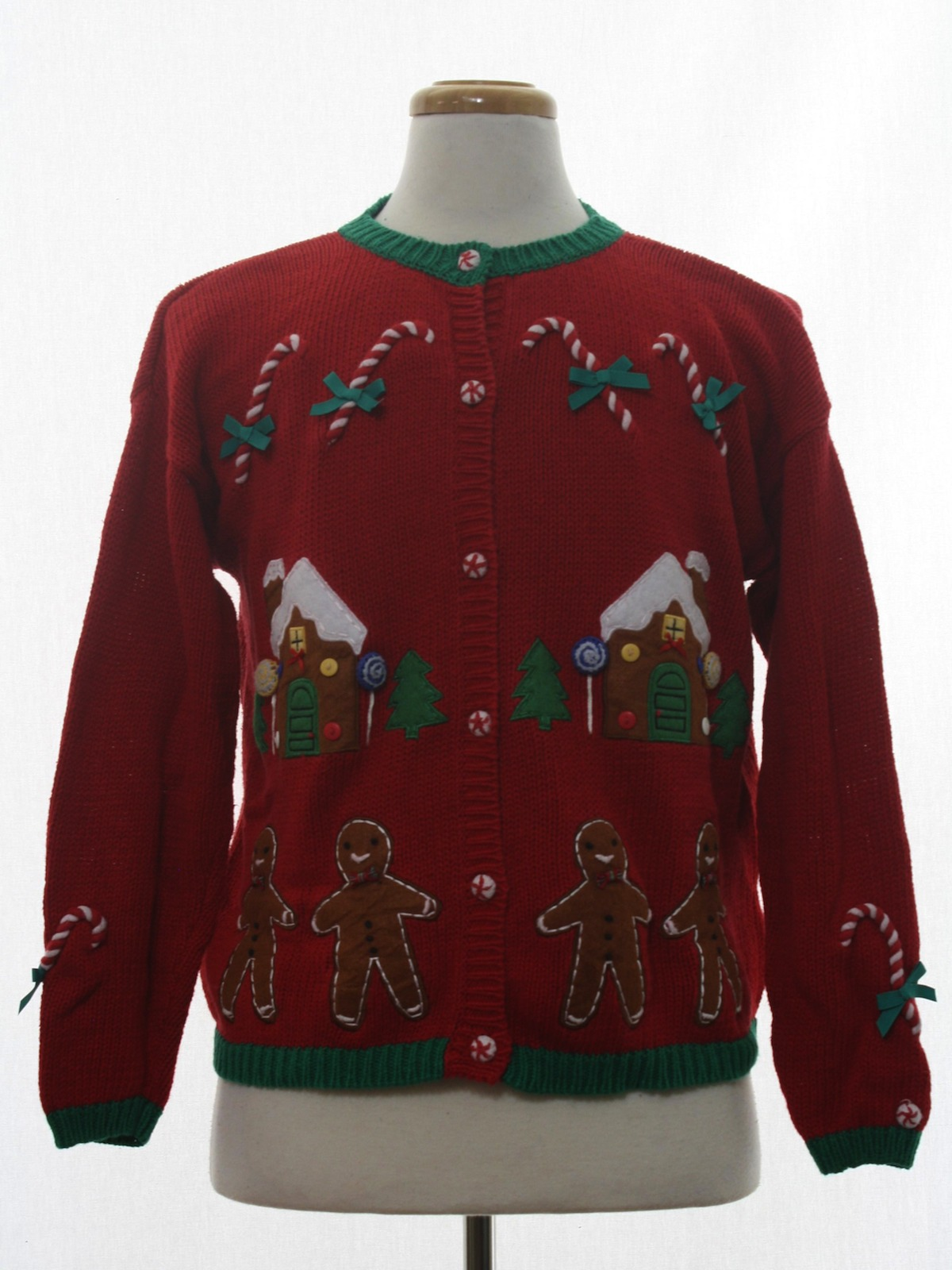 Womens Ugly Christmas Sweater Hartstrings Womens Red