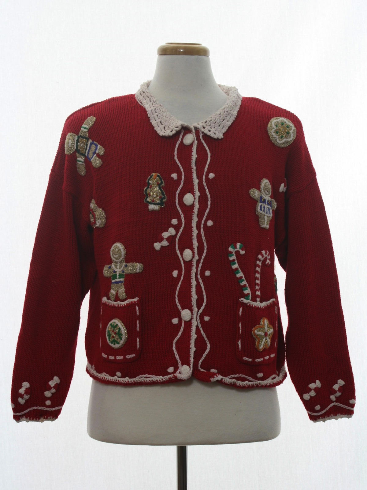 Retro 1990s Womens Ugly Christmas Sweater 90s Authentic