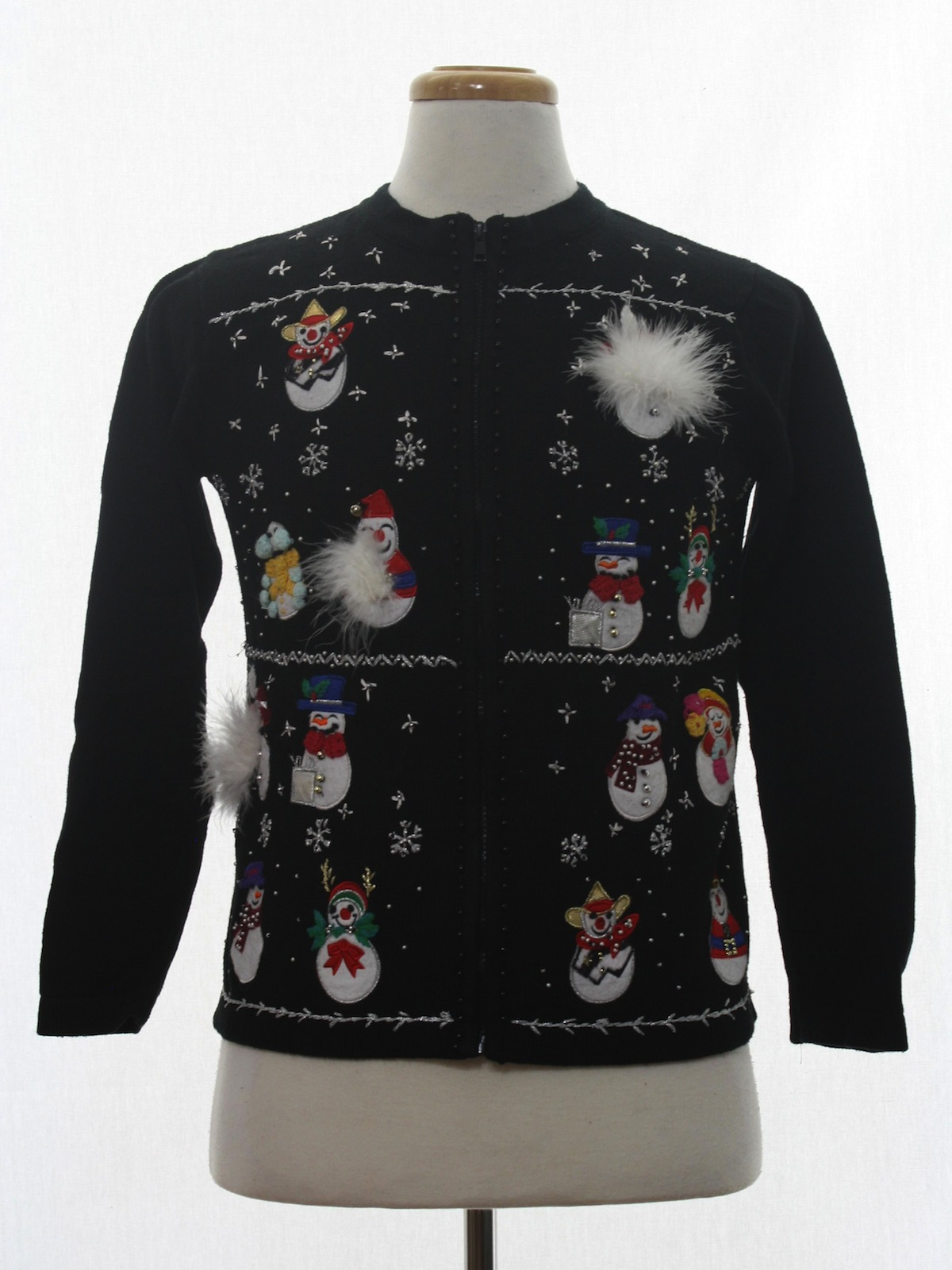 Womens ugly christmas sweater bp designs womens black for Over the top ugly christmas sweaters