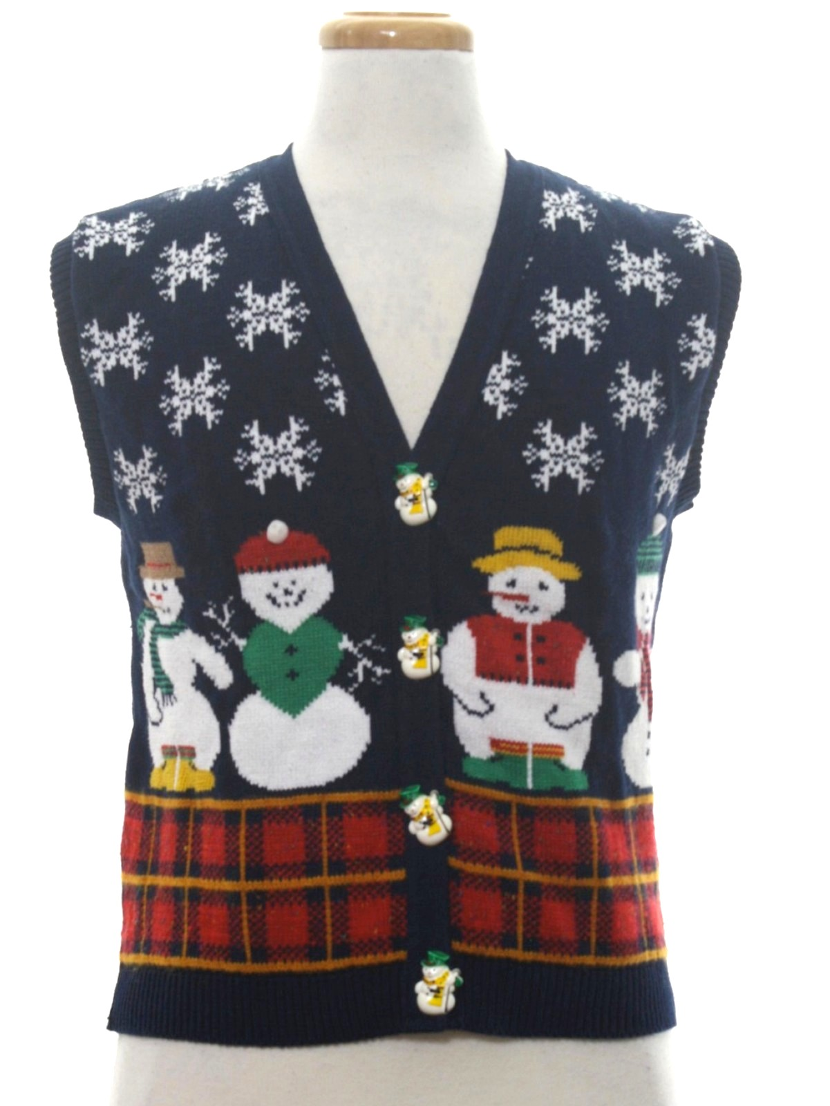 80s Womens Vintage Ugly Christmas Sweater Vest 80s Authentic