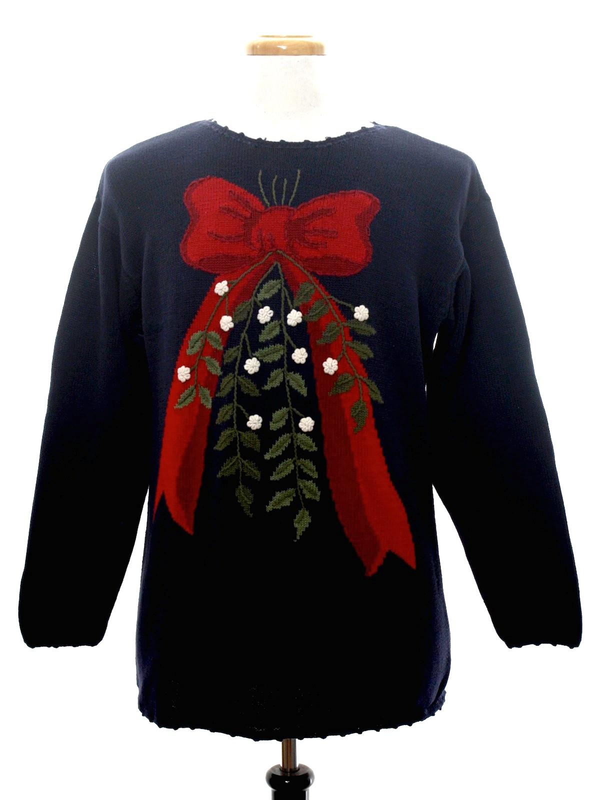 Look Under the Mistletoe Ugly Christmas Sweater: -Liz Sport- An ...