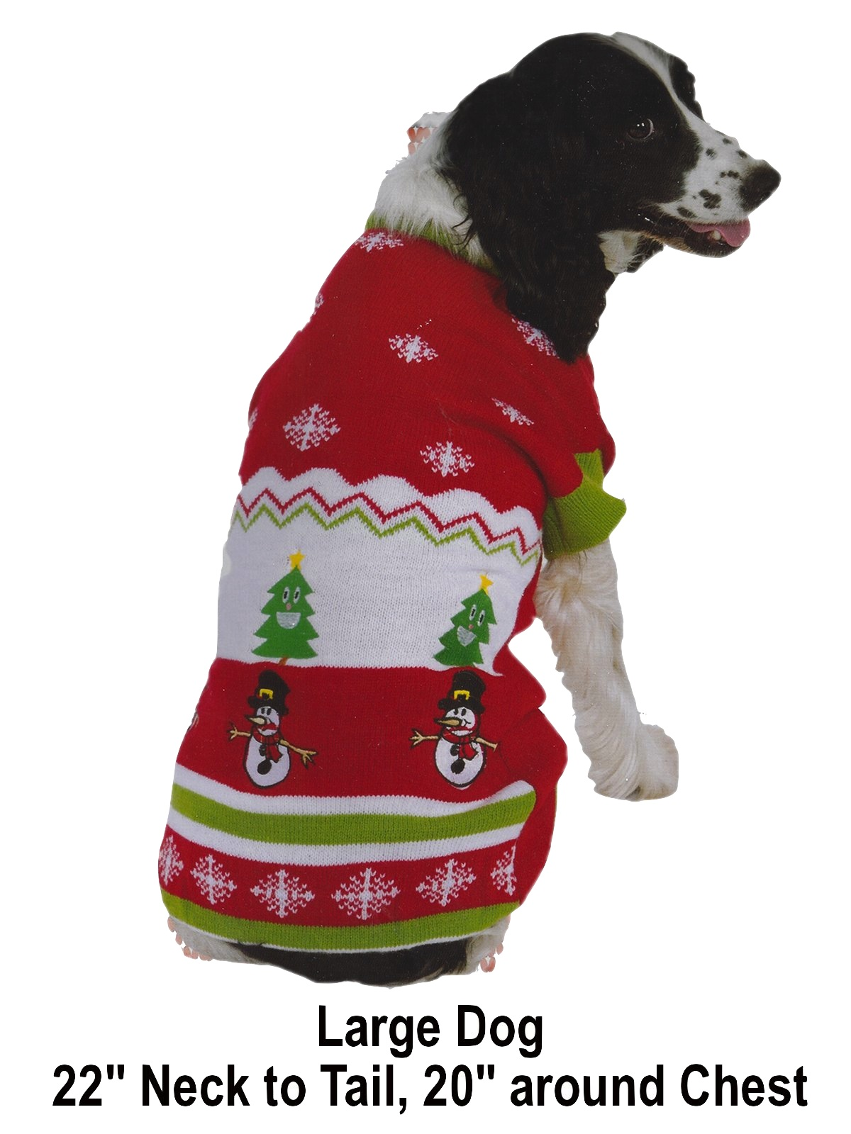 accessories ugly christmas sweater for dogs 90s pet boutique large dog red white and green acrylic knit ugly christmas sweater - Large Dog Christmas Sweaters
