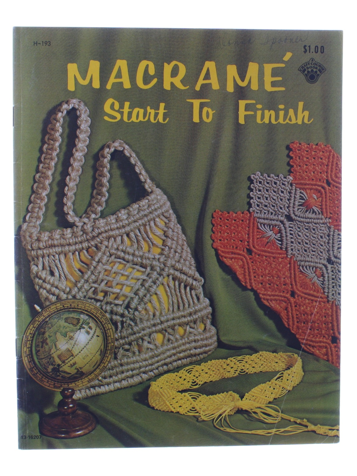 Book Cover Sewing Zip Code : Retro s sewing pattern macrame start to finish