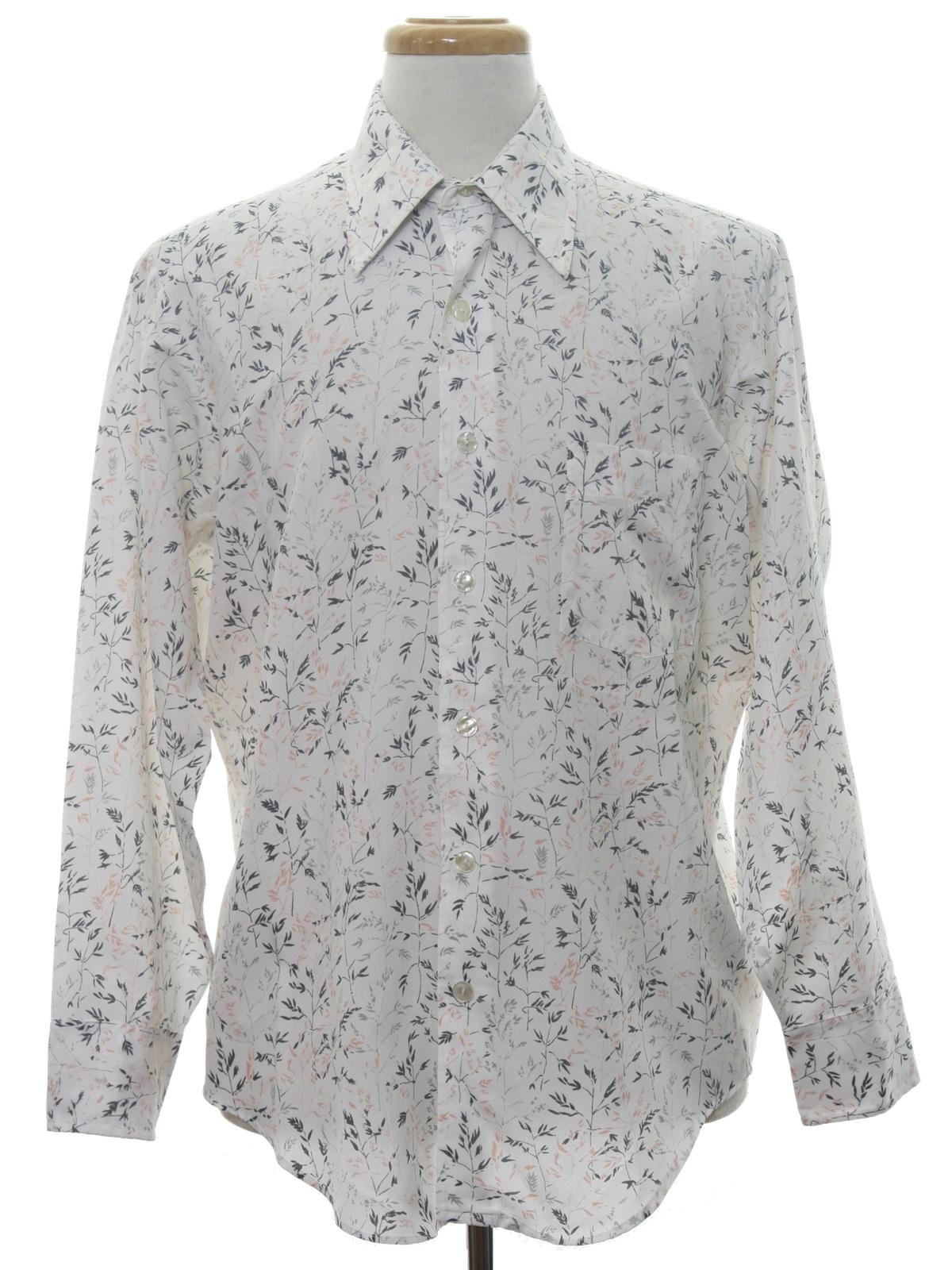 1970 39 s vintage ultressa print disco shirt 70s ultressa for Mens shirts with cufflink holes
