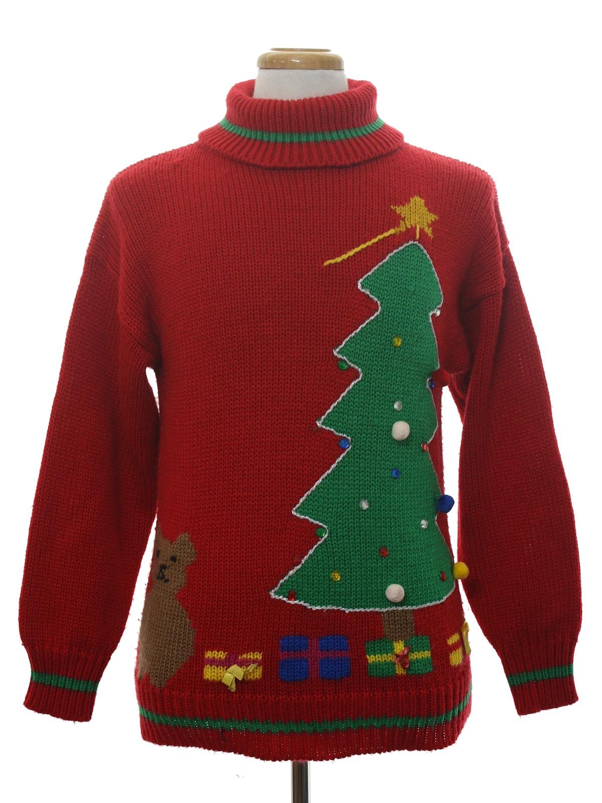 3bd0cb6672c4 80s Vintage Ugly Christmas Sweater (Bravo!): 80s authentic vintage ...