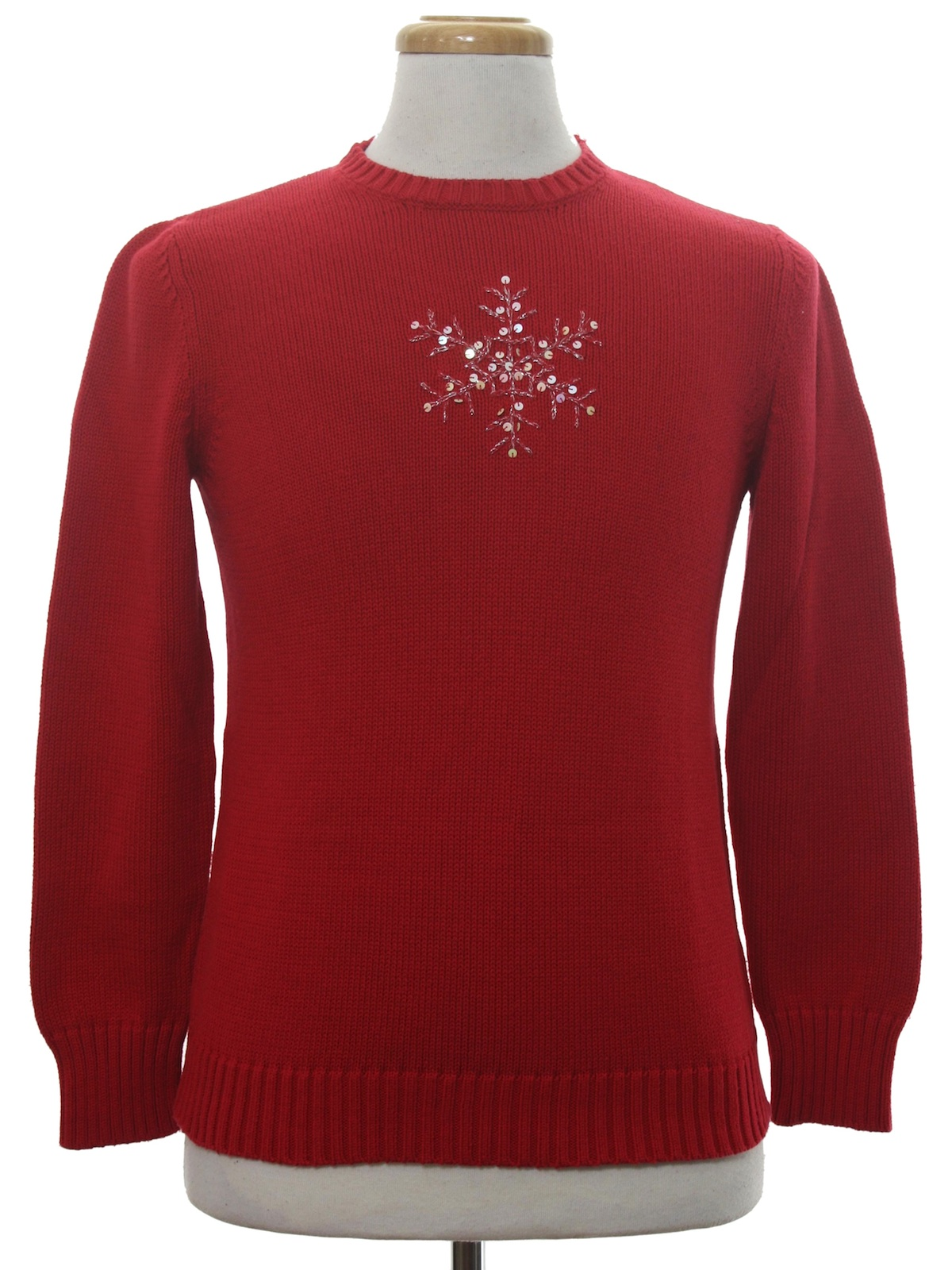 Womens Minimalist Ugly Christmas Sweater Two Hearts