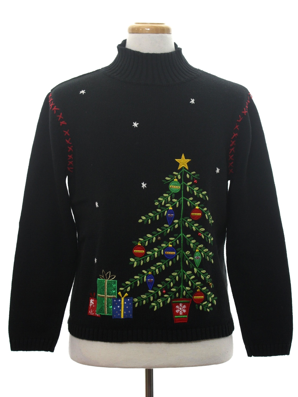 Womens Ugly Christmas Sweater: -Classic Elements- Womens ...
