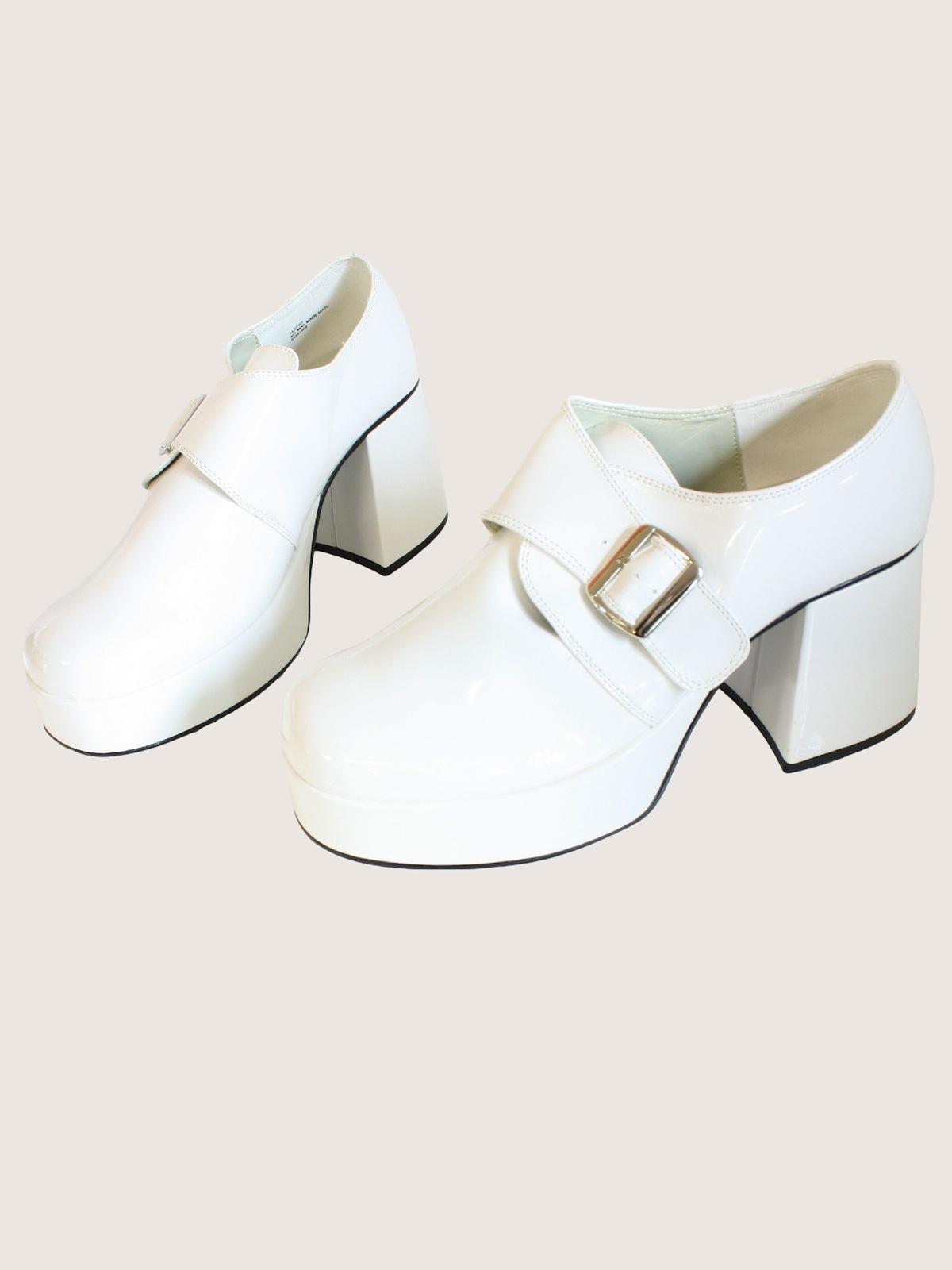 9f4bdee3212f 70s Shoes (White Platform Shoes)  70s reproduction -White Platform ...