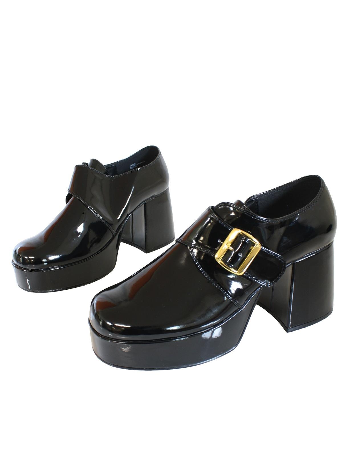 80c48d13c821 Vintage Black Platform Shoes 70 s Shoes  70s reproduction -Black ...