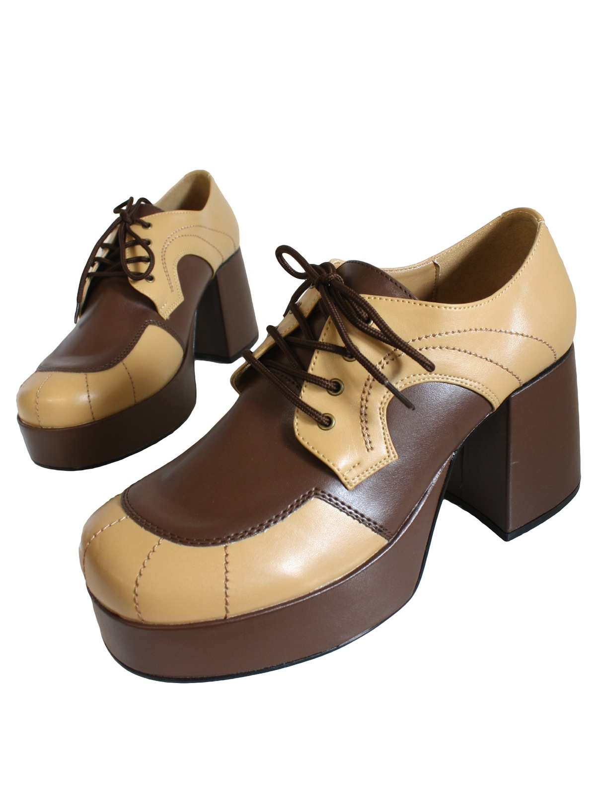 c82232ffe4d6 Vintage 70s Shoes  70s reproduction (made recently) -Two Tone Brown ...