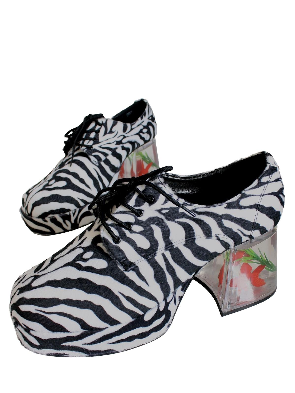 1970s Vintage Shoes 70s Reproduction Zebra Print