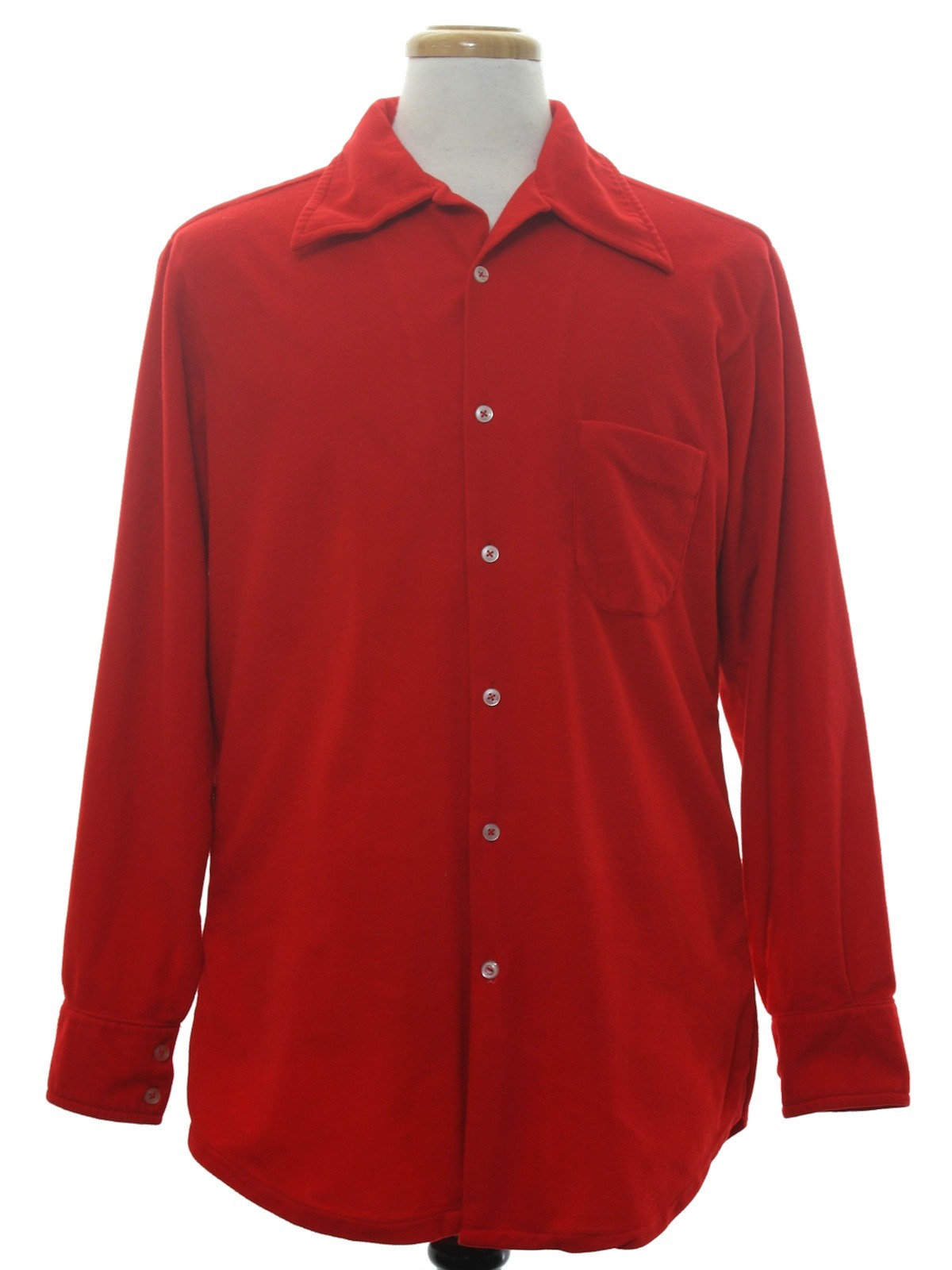 Vintage seventies shirt late 70s or early 80s no label for Cotton polyester flannel shirts