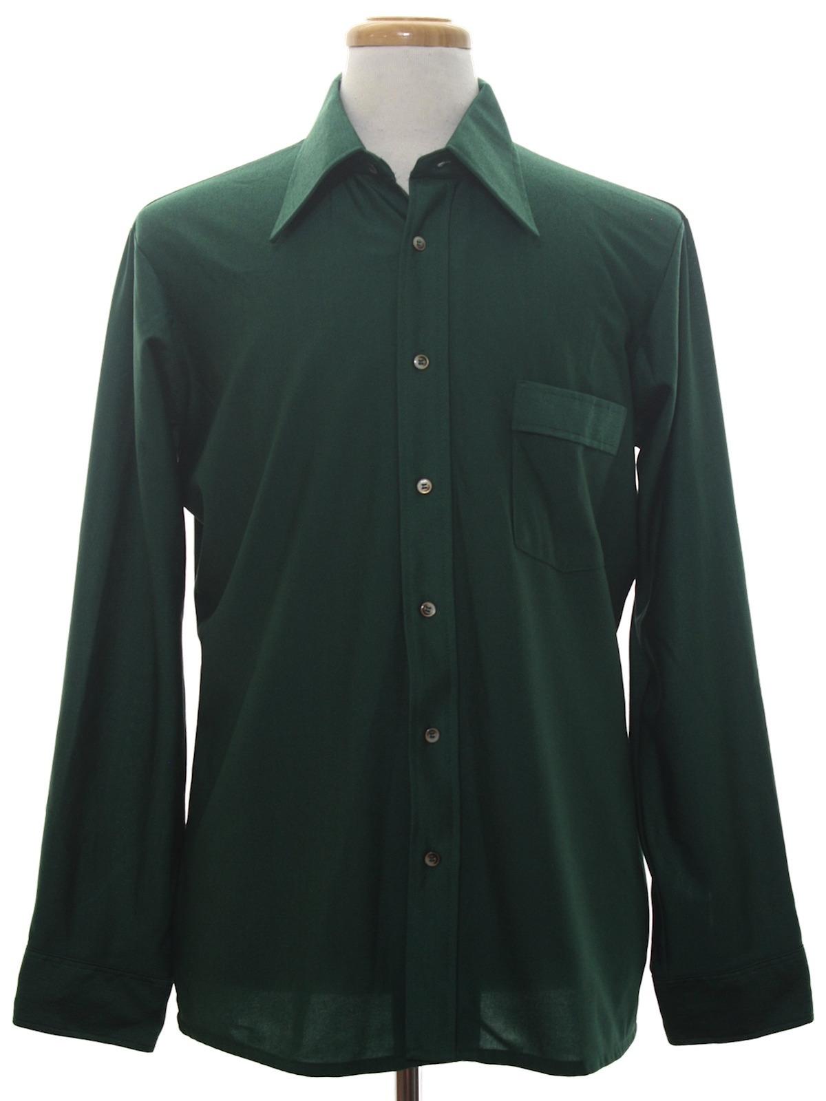 70s disco shirt van heusen 70s van heusen mens sheeny for Mens shirts with cufflink holes