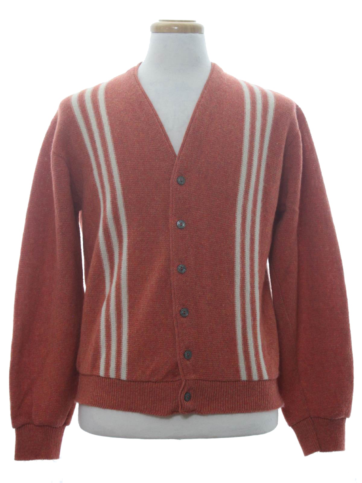 1960s Jacquard Knit Acrylic Cardigan Sweater by Sears Roebuck and Co