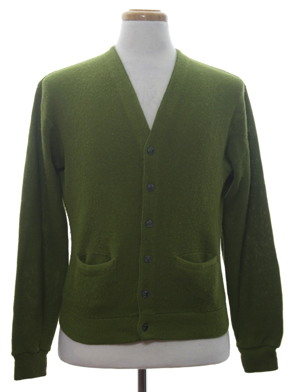 1970's Hanes Pros Choice Mens Cardigan Sweater