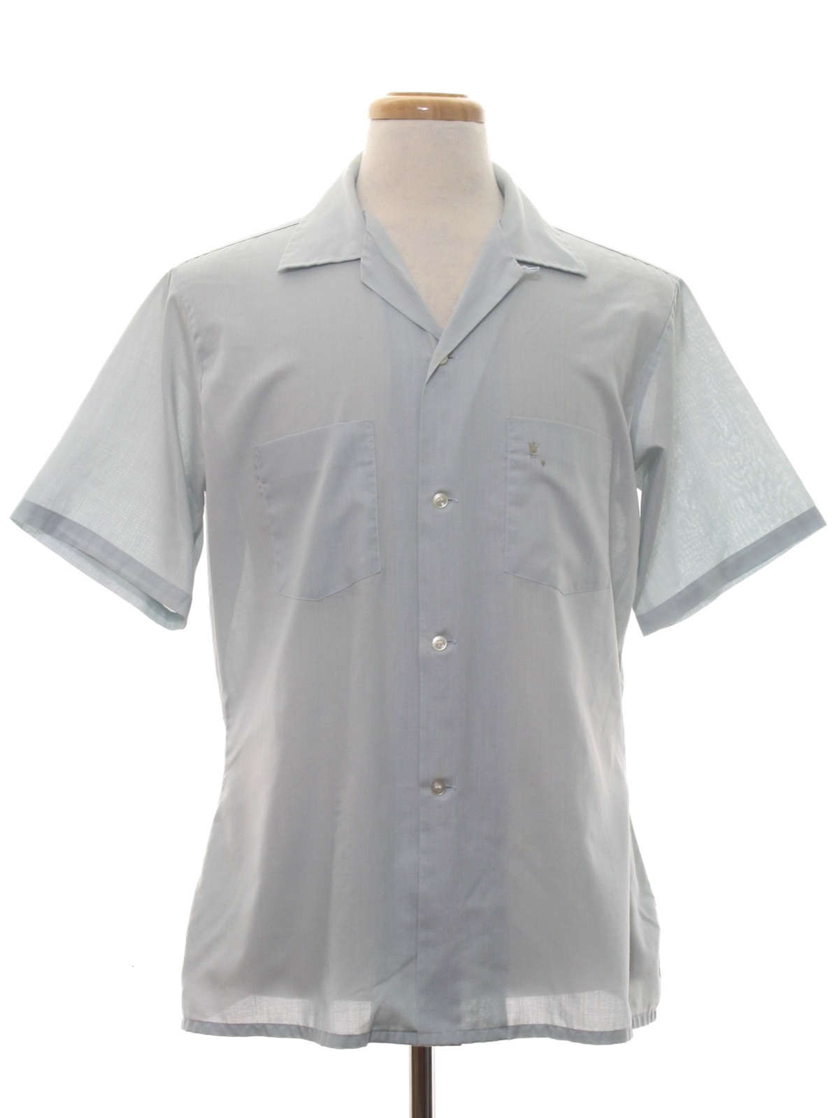 Arrow sixties vintage shirt late 60s arrow mens pale for Sports shirts near me