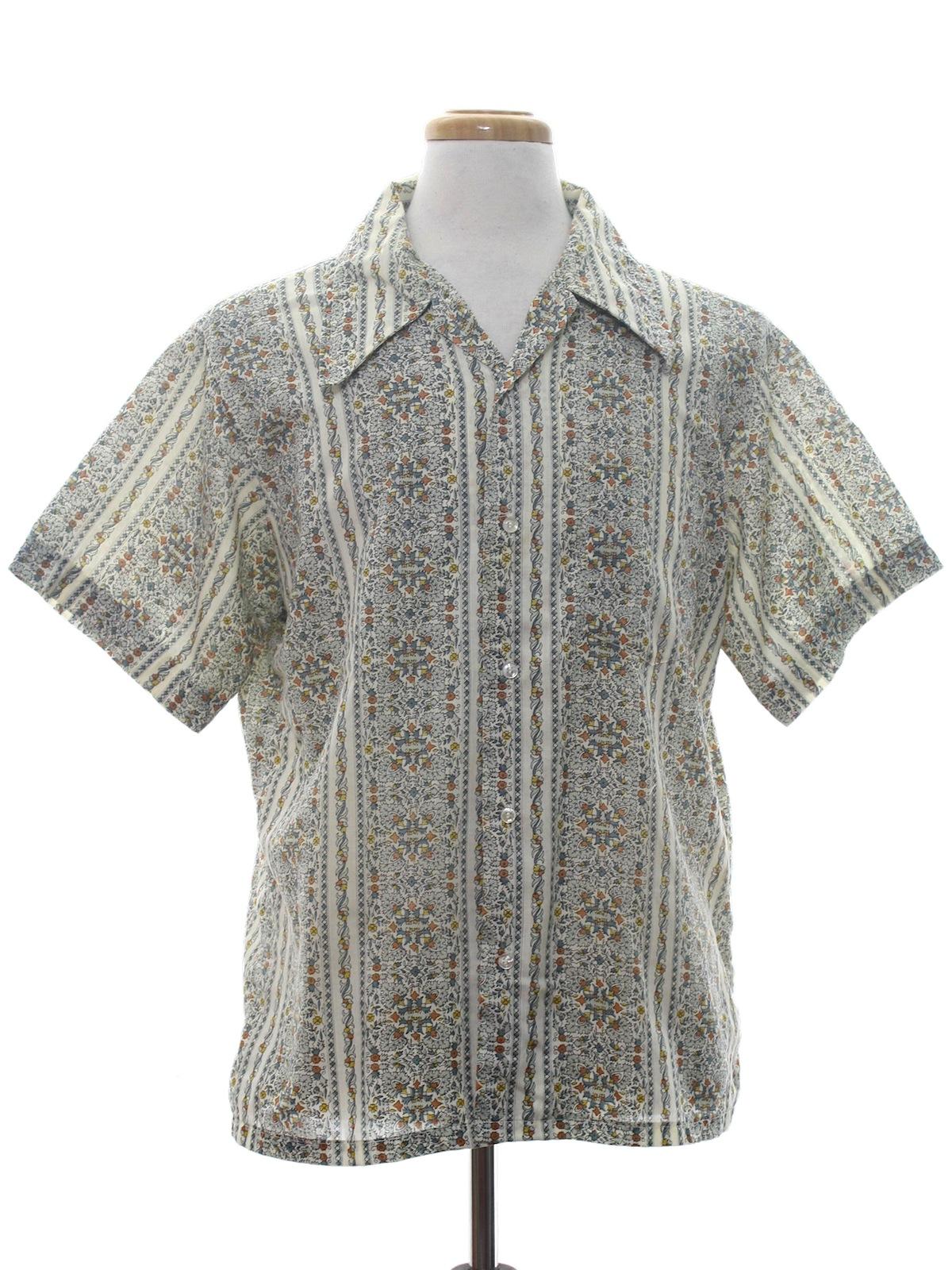 California seventies vintage shirt 70s california mens for Sports shirts near me