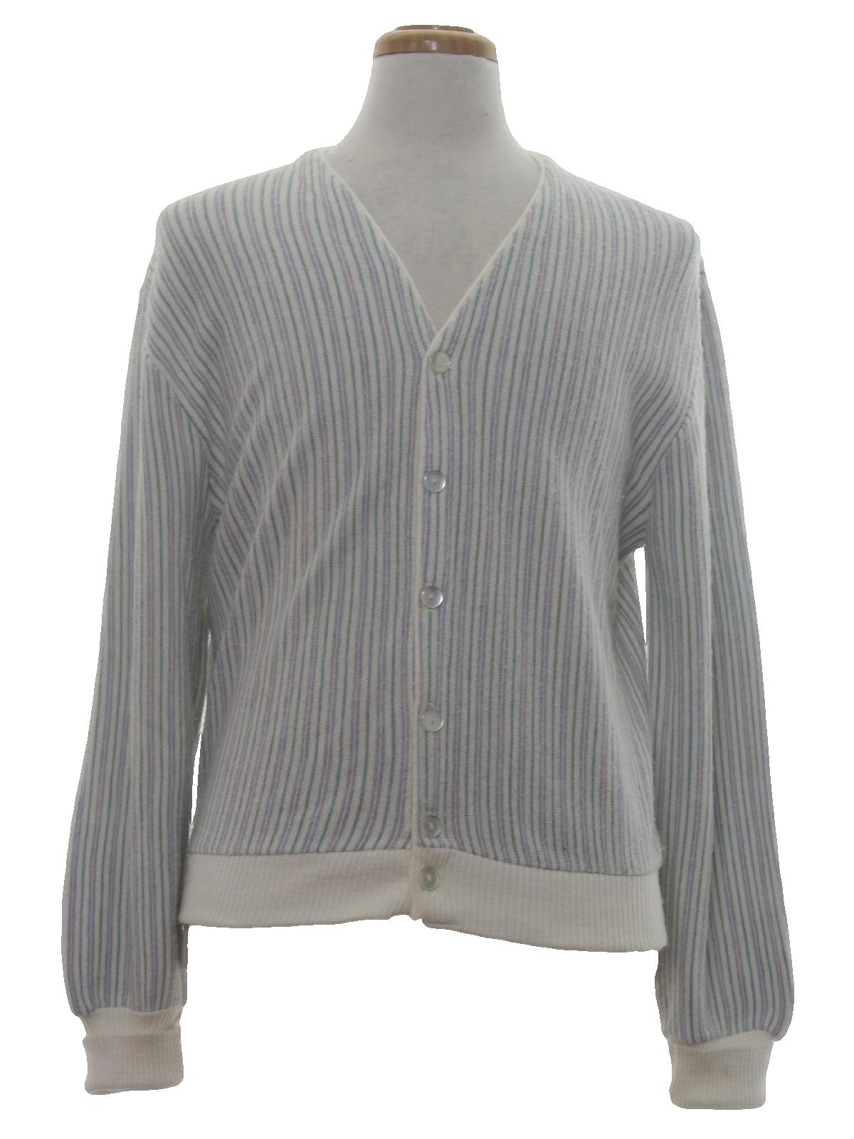 1970's Arnold Palmer Mens Cardigan Sweater