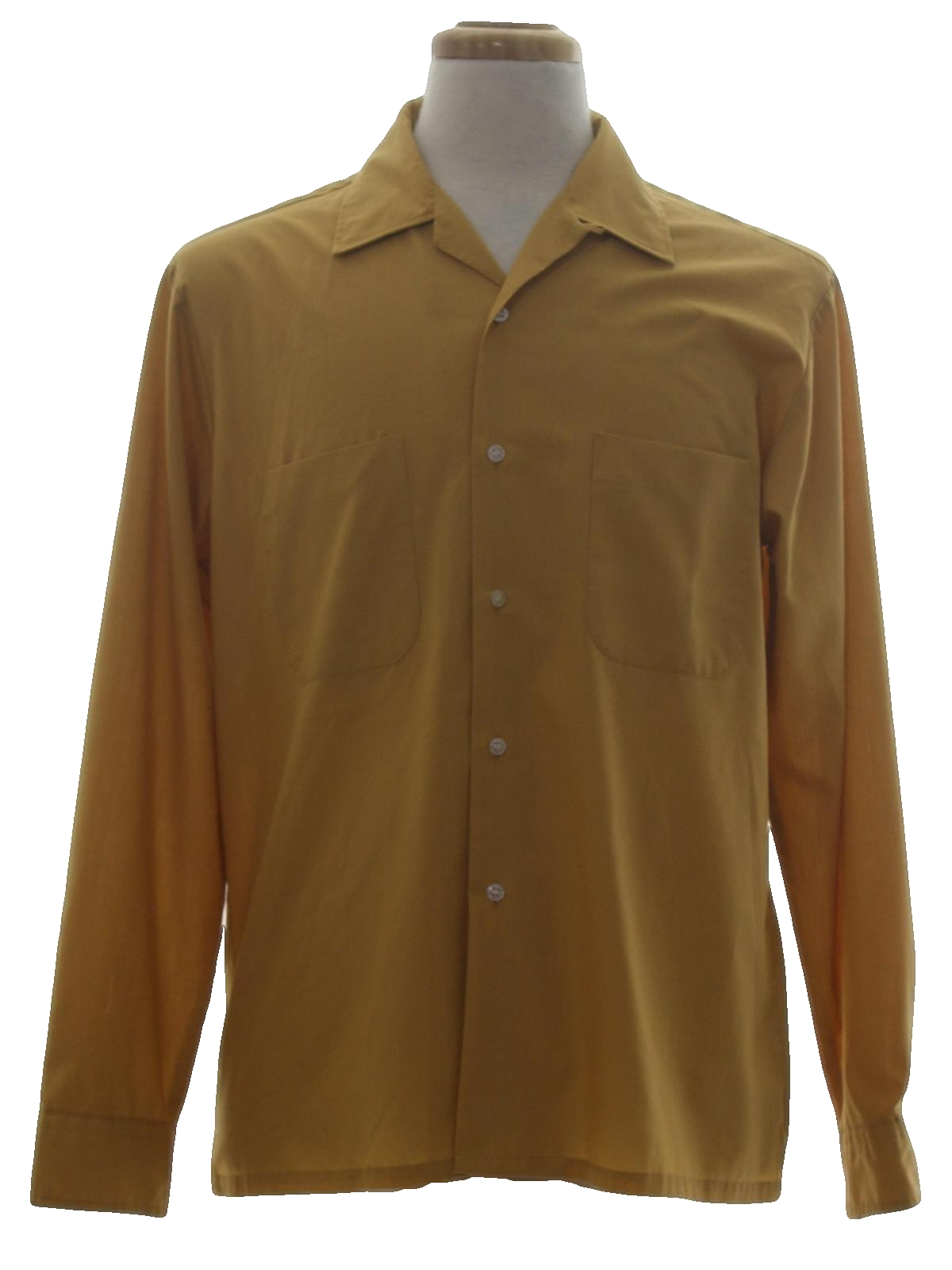 1960s vintage shirt late 60s or early 70s towncraft for Solid color button up shirts