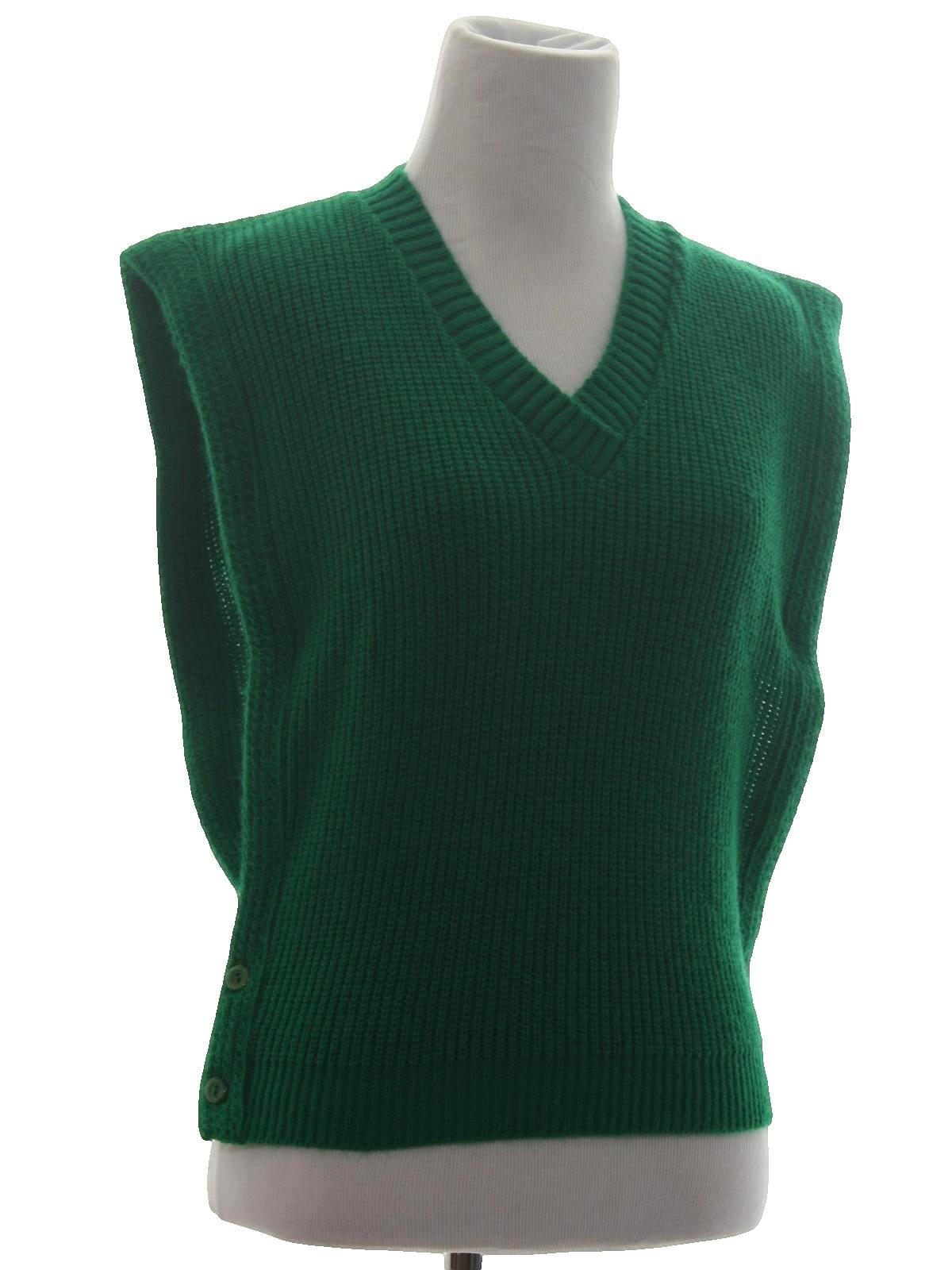 80s Retro Sweater 80s Hunters Glen Womens Grass Green Acrylic