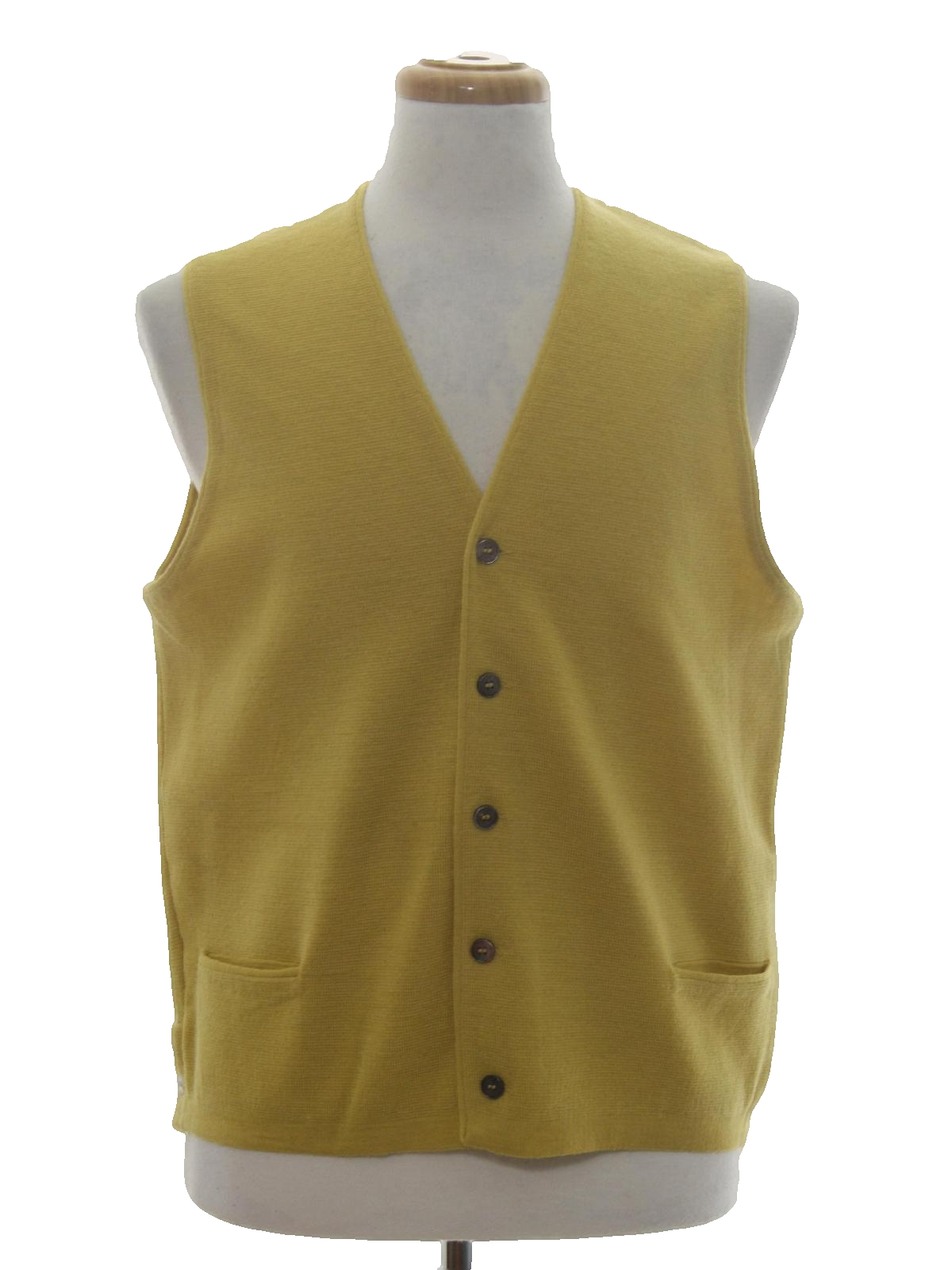 Vintage 60s Sweater: 60s -Brandeis- Mens dijon yellow background ...