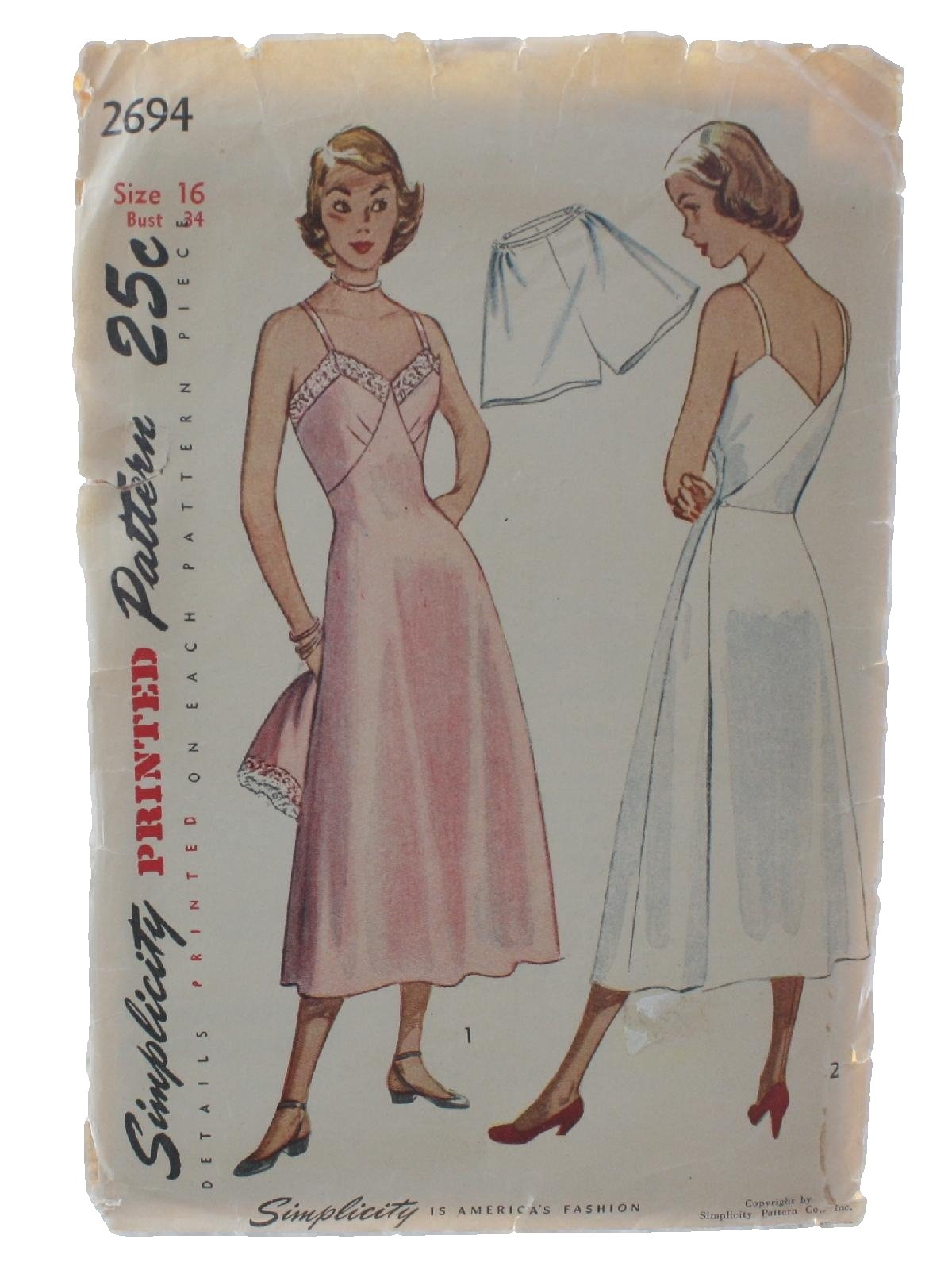 7a86e2071c175 Forties Sewing Pattern: 40s -Simplicity Pattern No. 2694- Ladies ...