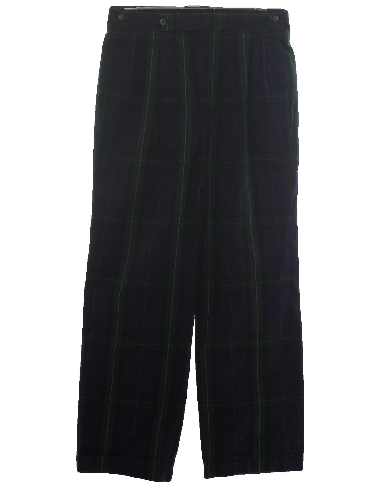 Retro Eighties Pants 80s Polo By Ralph Lauren Mens Navy
