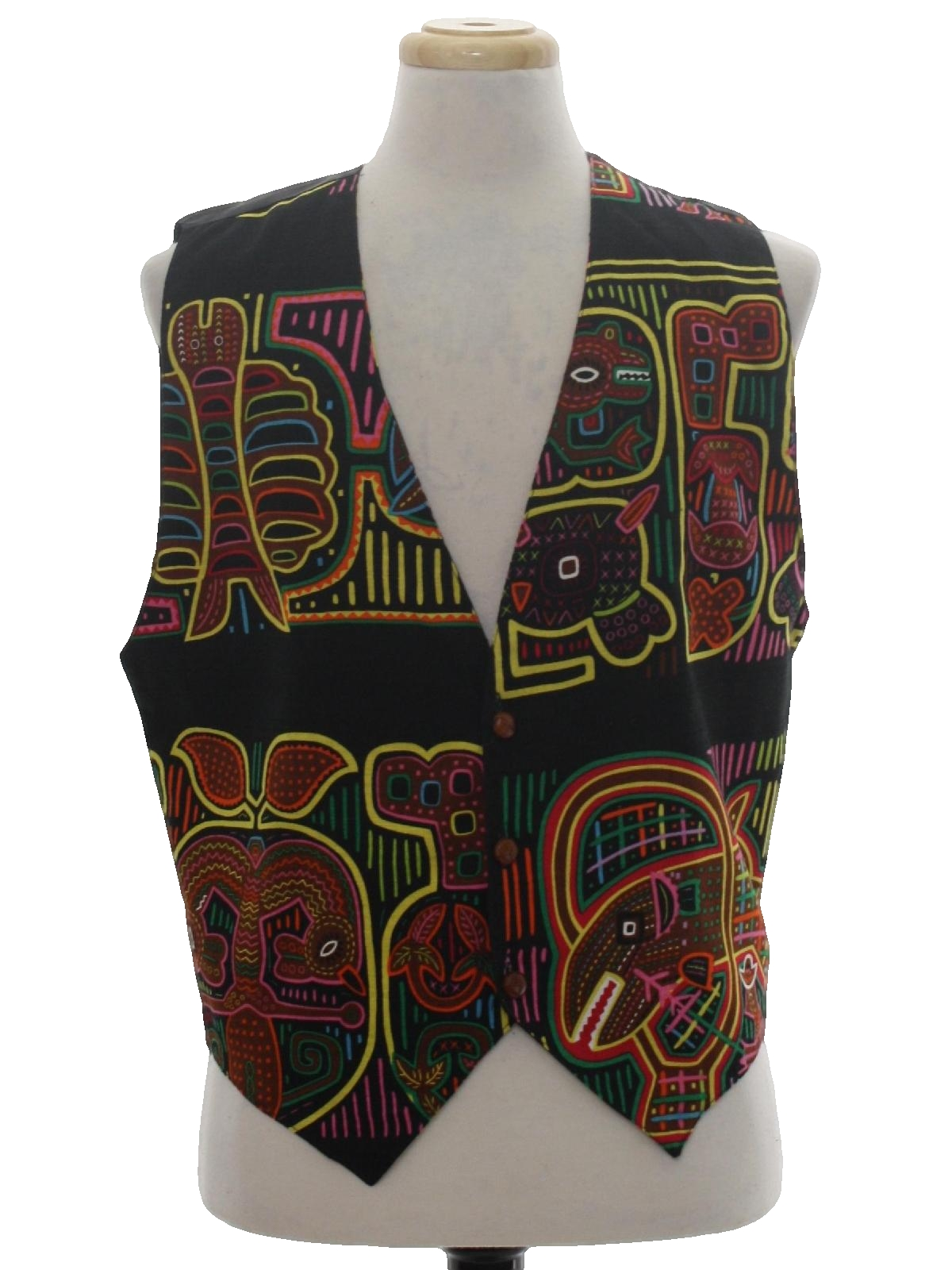 1980 S Vest Indios 80s Indios Mens Black Cotton