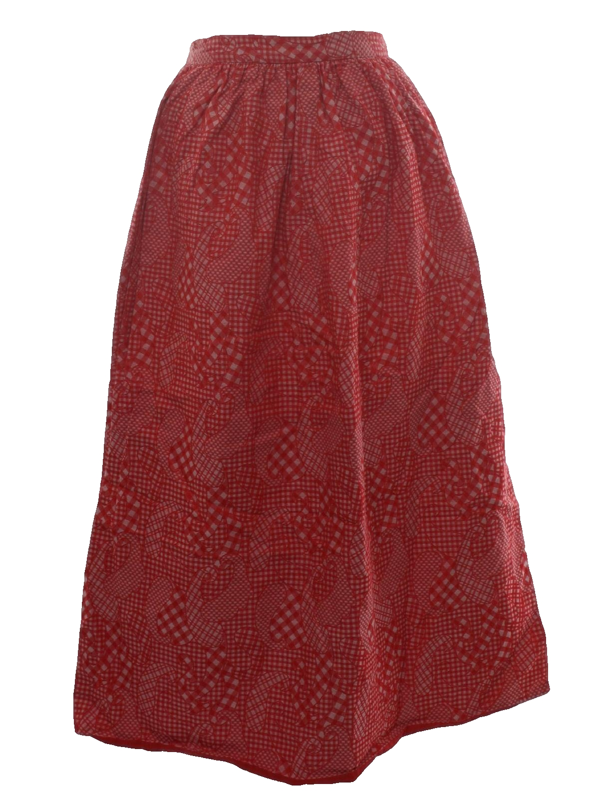 c0715f1e 70s Vintage Home Sewn Hippie Skirt: 70s -Home Sewn- Womens red and ...