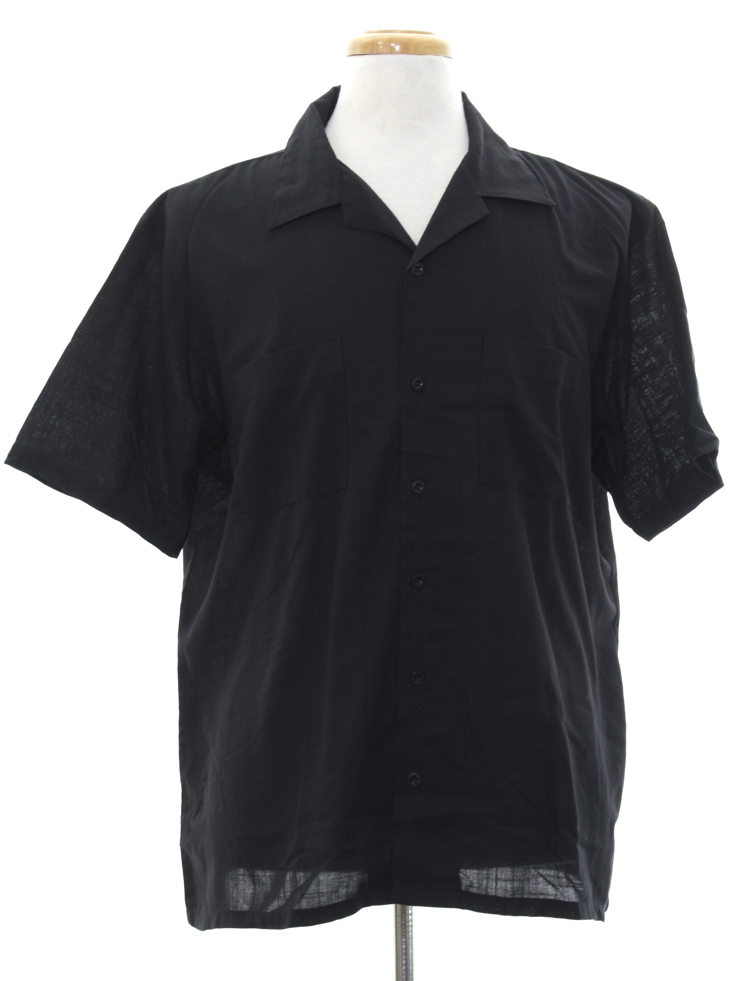 1960 39 s retro shirt 60s style made in 80s davinci mens for Button up collared sport shirts