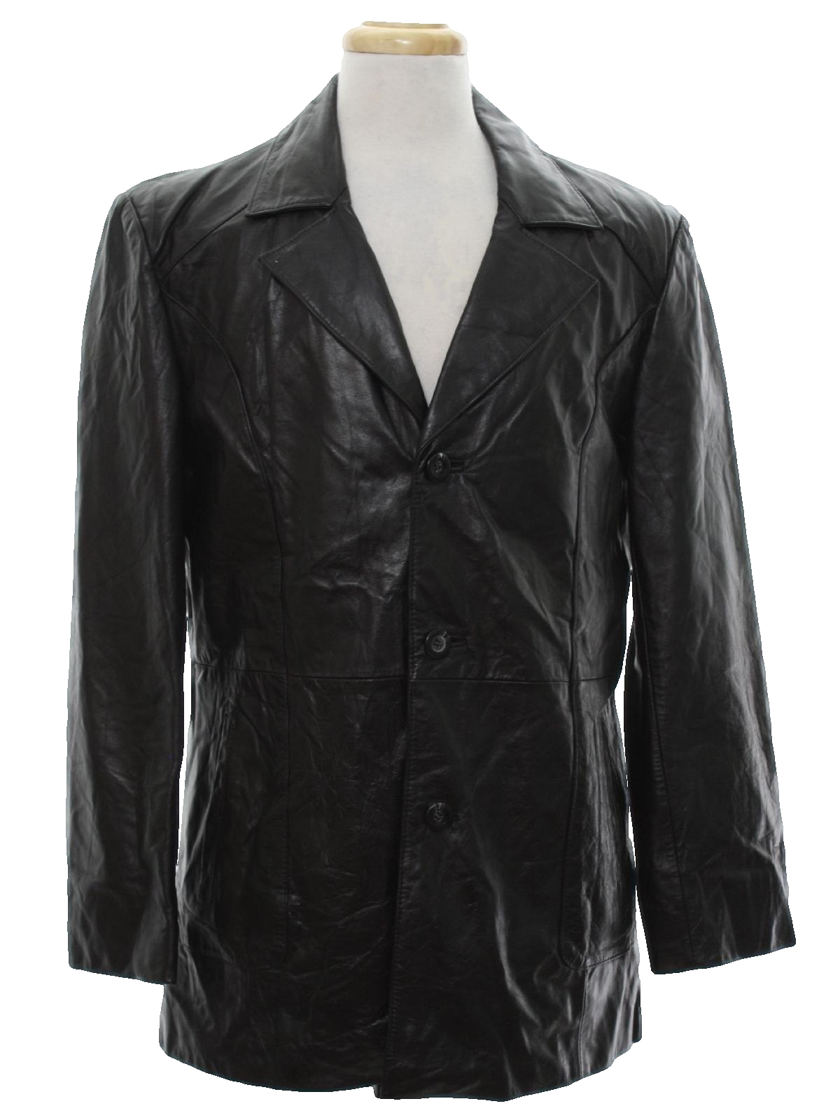 Bolme Seventies Vintage Leather Jacket: 70s -Bolme- Mens