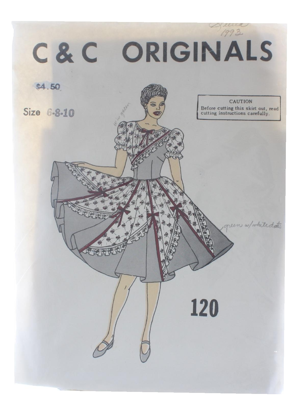 70\'s Vintage Sewing Pattern: 70s -C and C Originals Pattern No. 120 ...