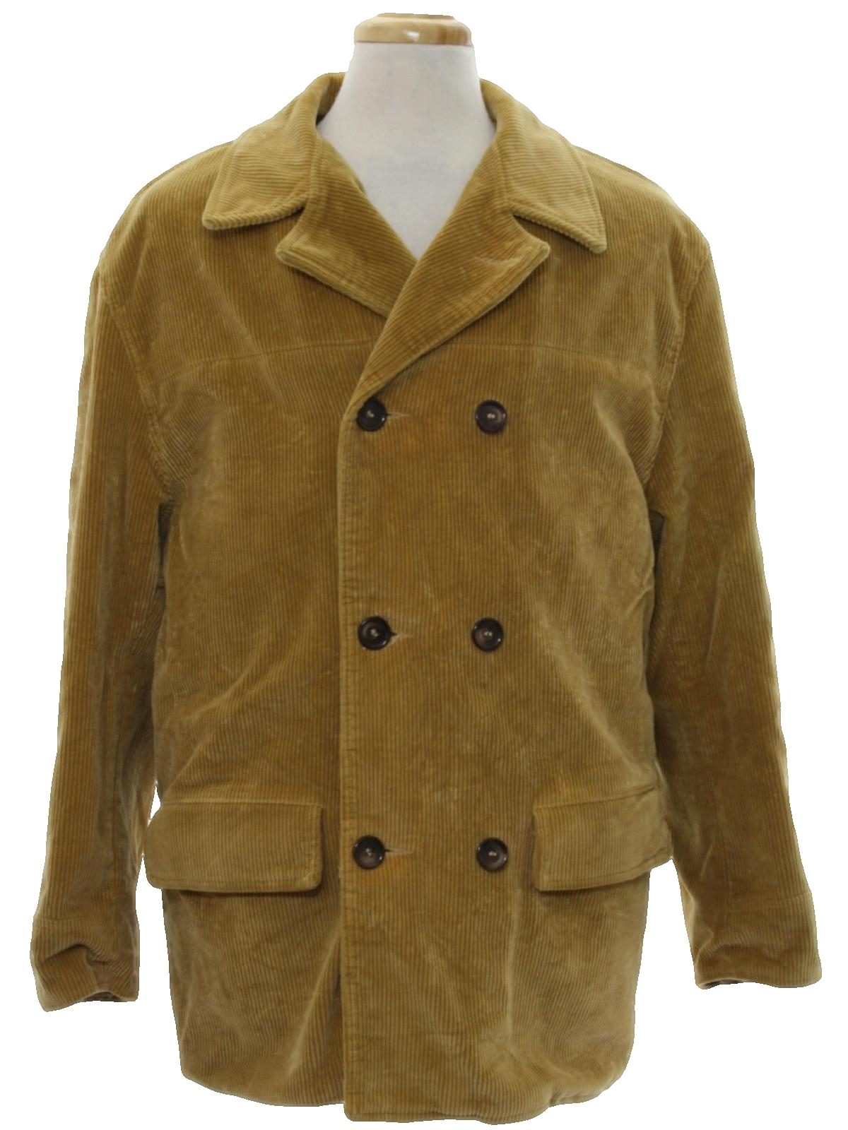 Retro 70's Jacket: 70s -Sam Walker- Mens camel colored wide wale ...