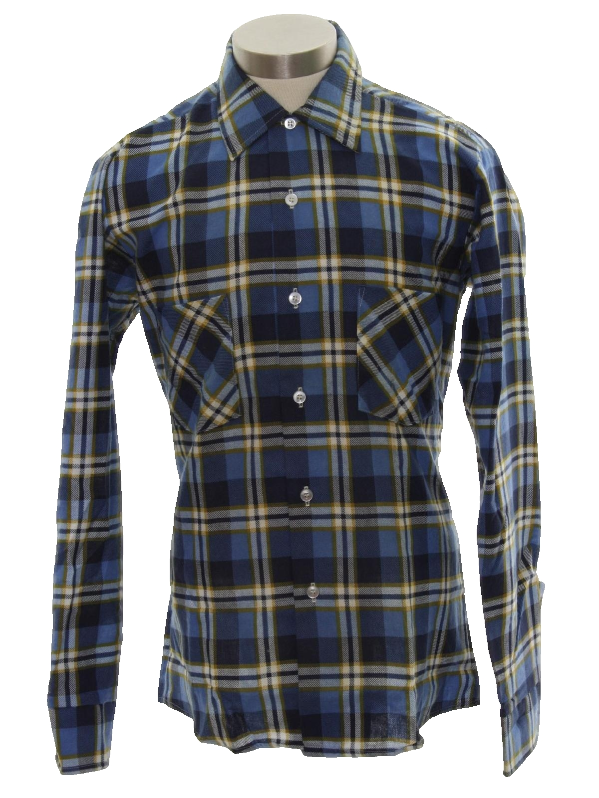 60 39 s vintage shirt 60s designer collection mens dusty for Cotton polyester flannel shirts