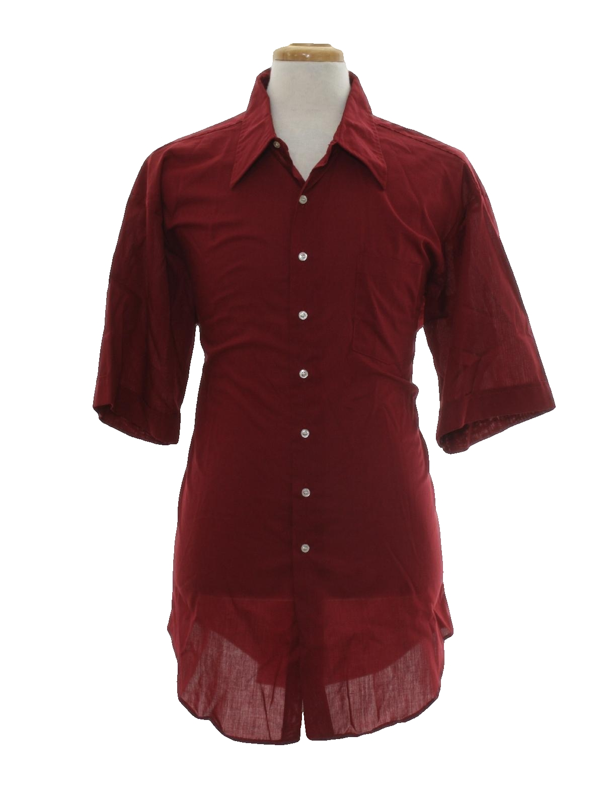 1970 39 s vintage the king size co shirt 70s the king size for Wine colored mens dress shirts